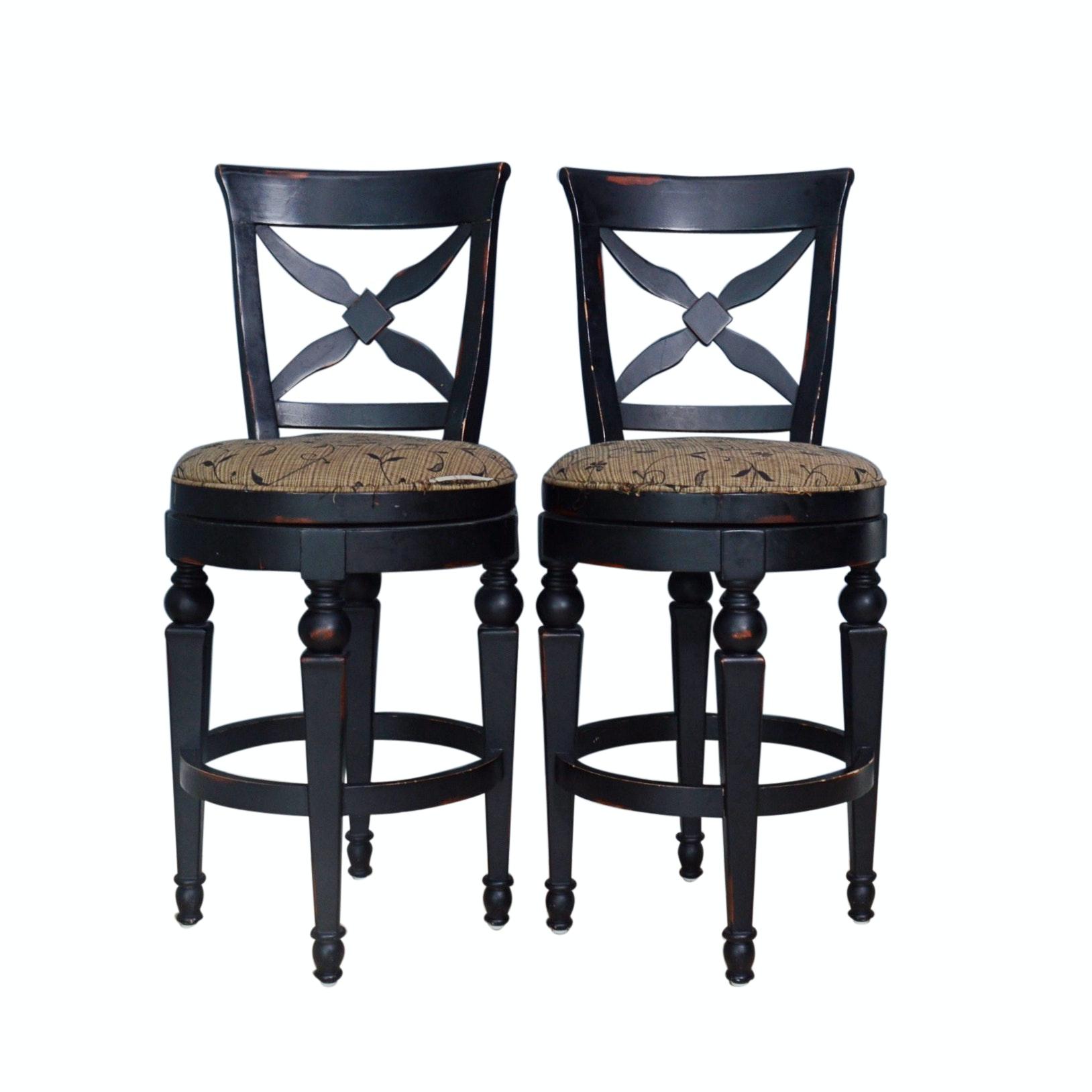 Pair of Swivel Seat Bar Stools