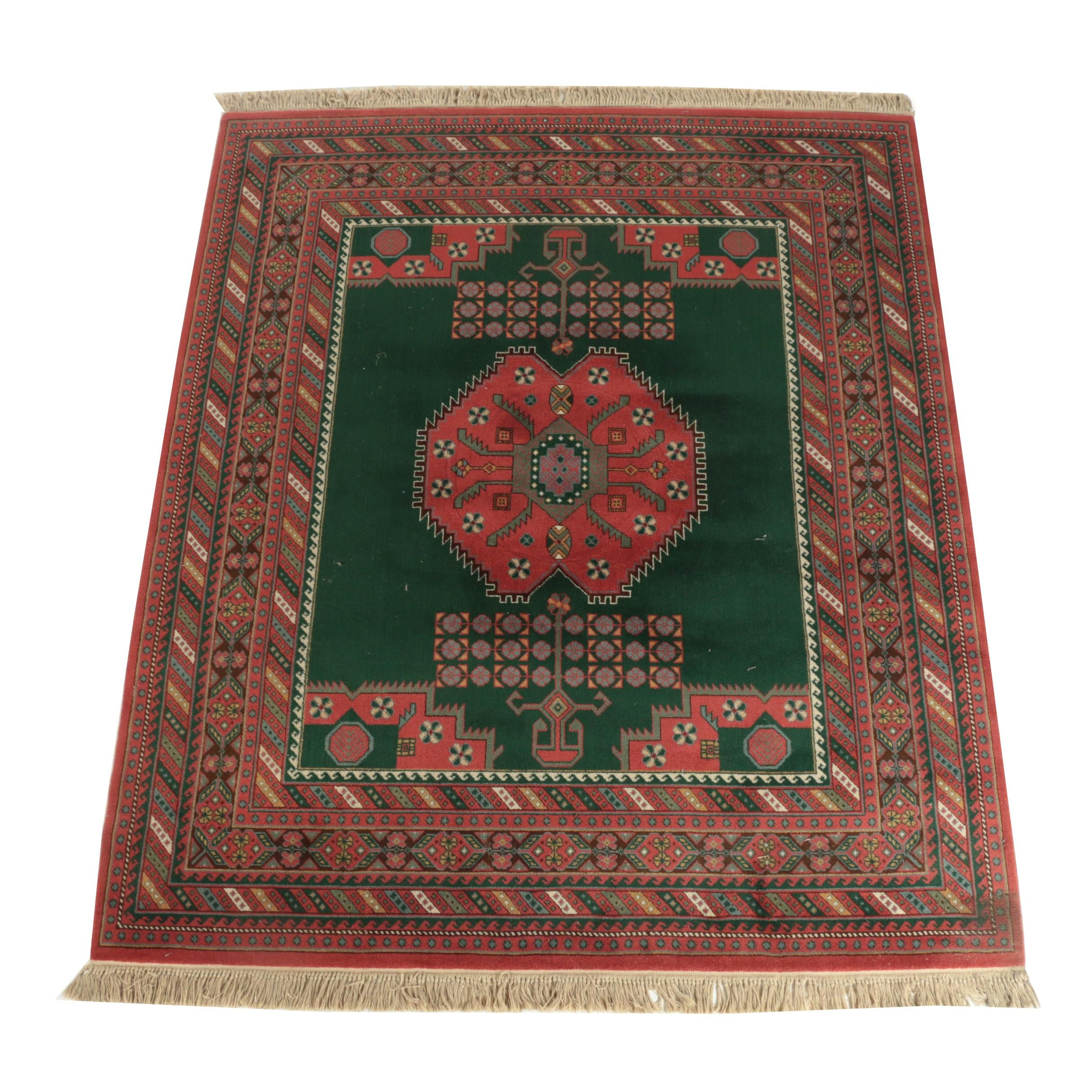Power-Loomed Persian Afshari Style Area Rug