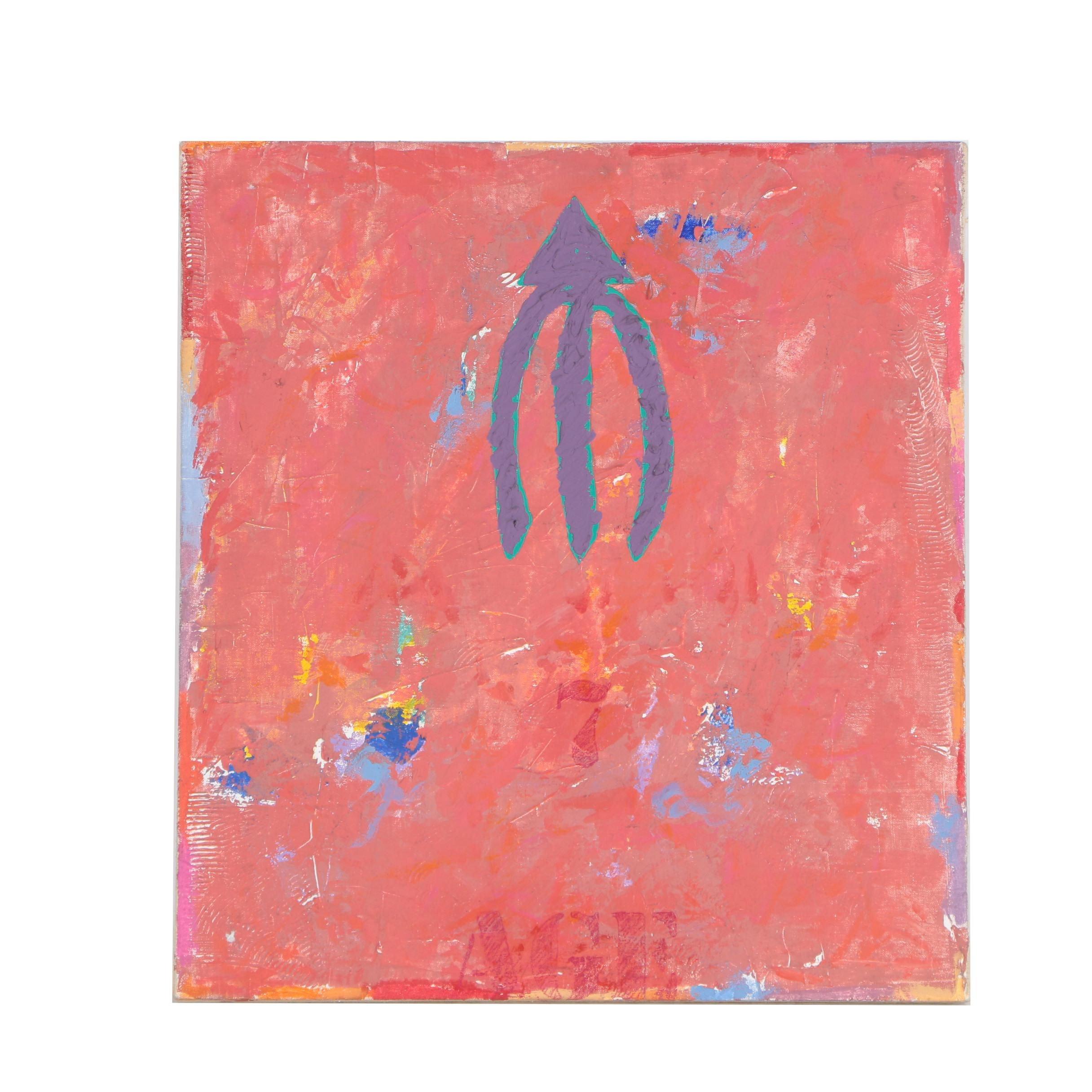 "John Rozelle 1989 Mixed Media Painting ""Passage Series #12"""