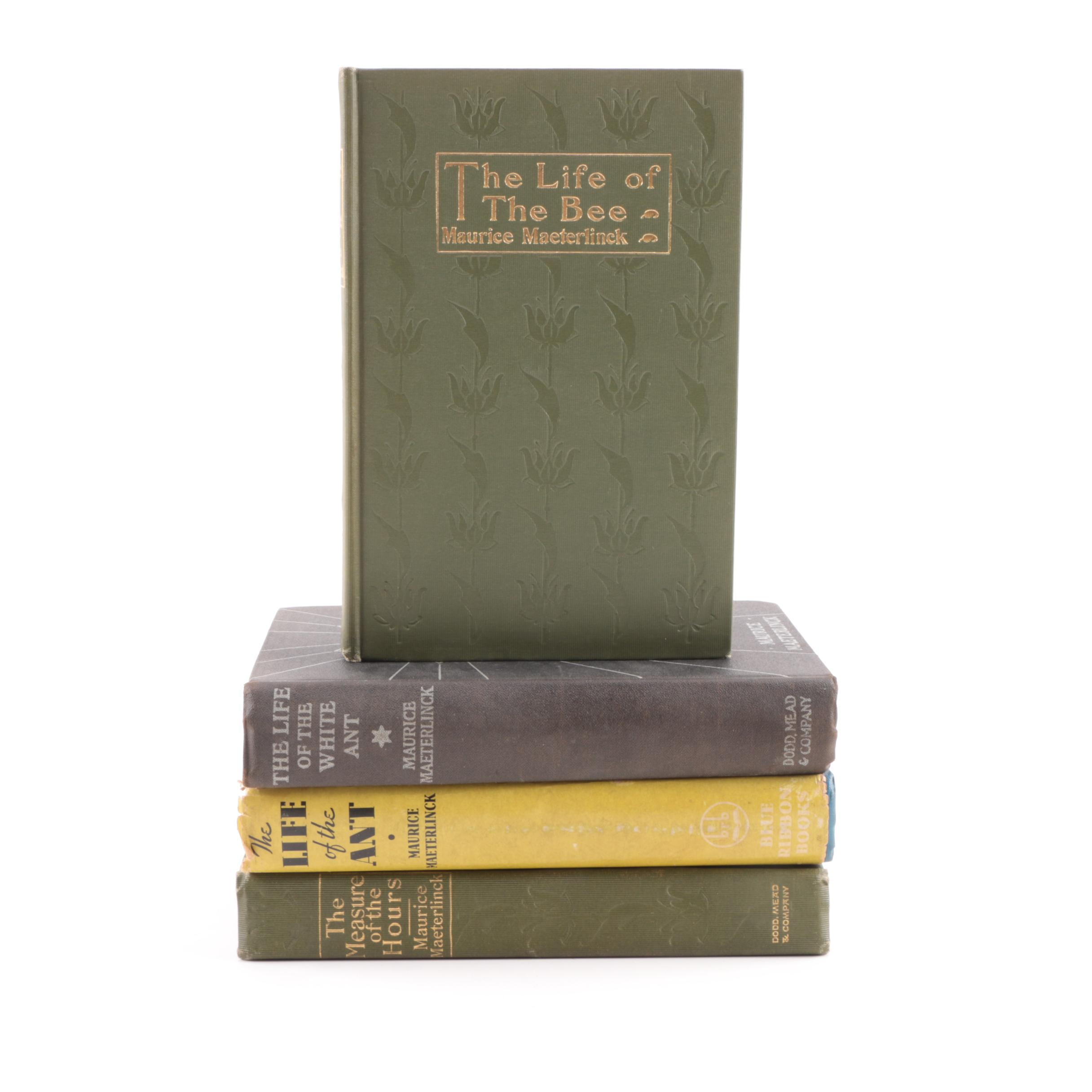 "Maurice Maeterlinck Volumes including ""The Life of the Bee"""
