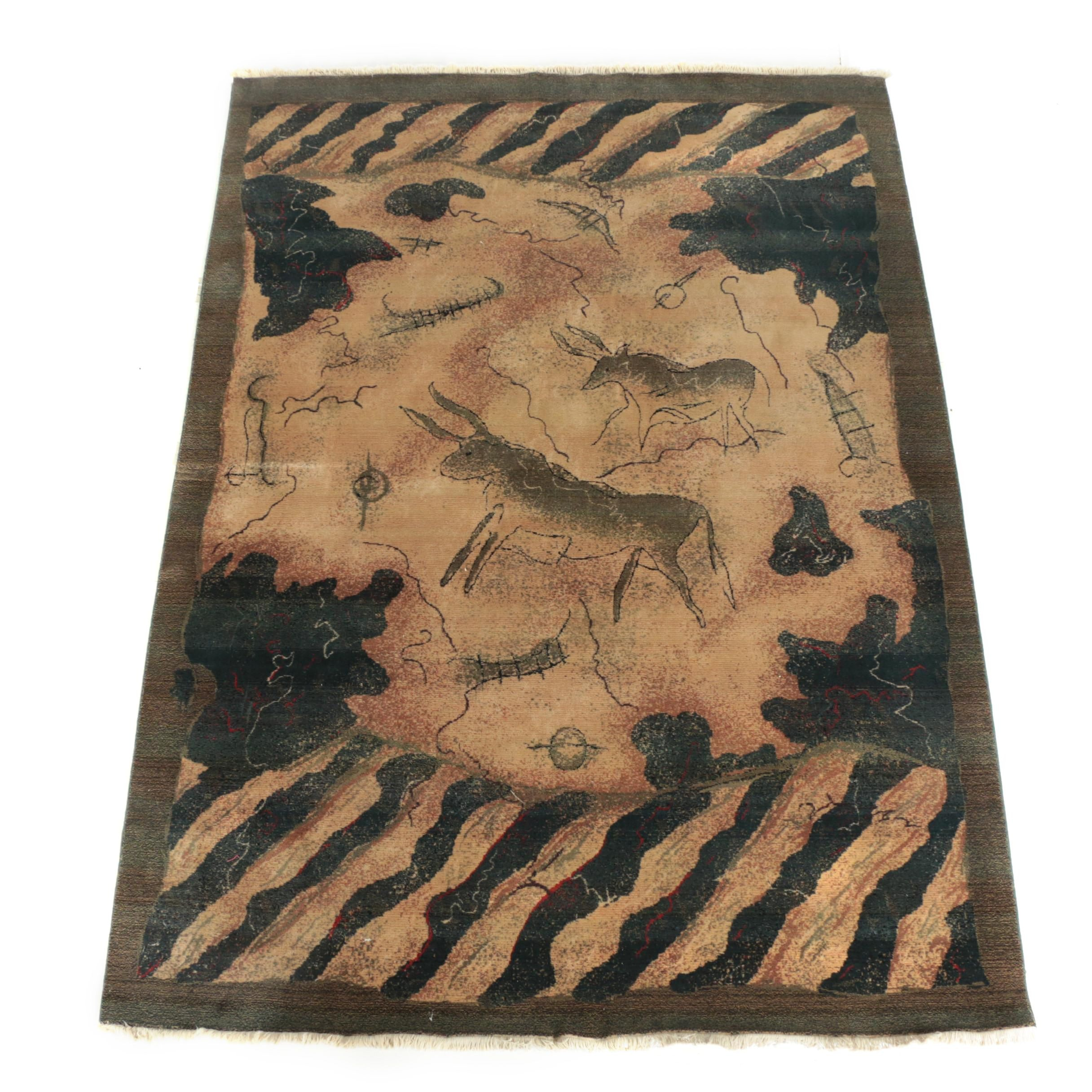 "Power-Loomed Karastan ""Lascaux Collection"" Wool Area Rug"