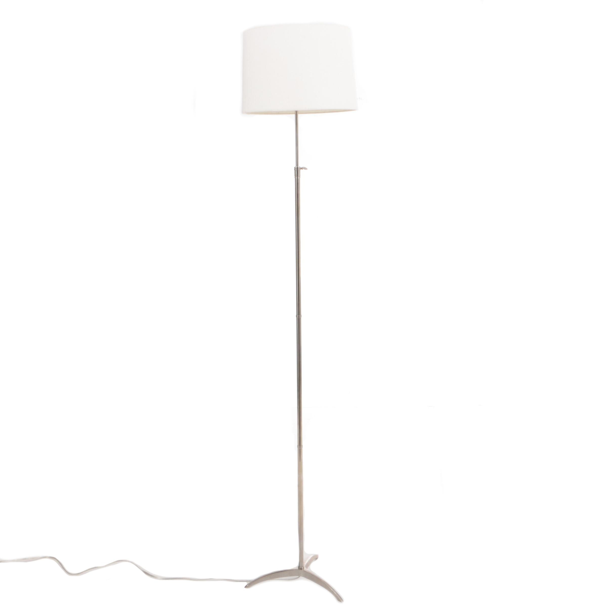 Keller Floor Lamp in Chrome Finish