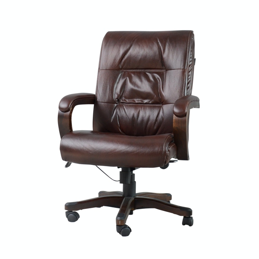 Broyhill Leather Adjule Executive Chair