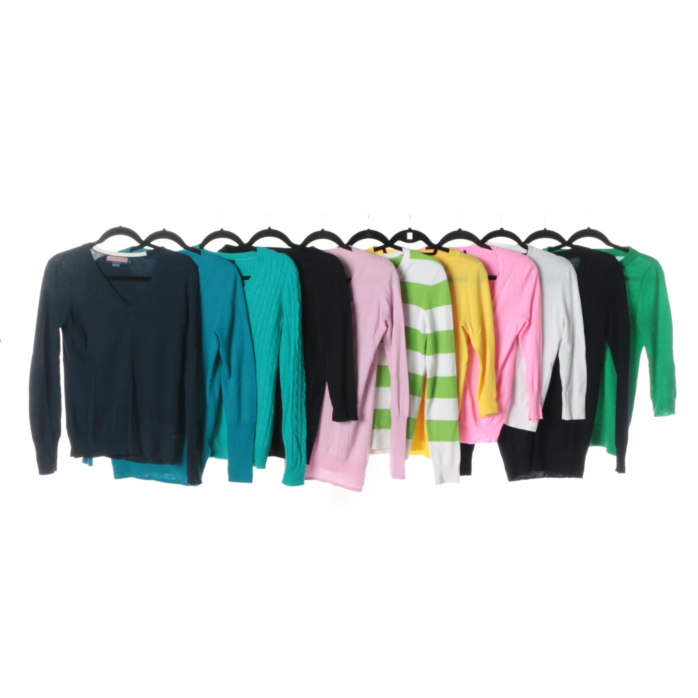 Women's J. Crew with Vineyard Vines and Lilly Pulitzer Cardigans and Pullovers