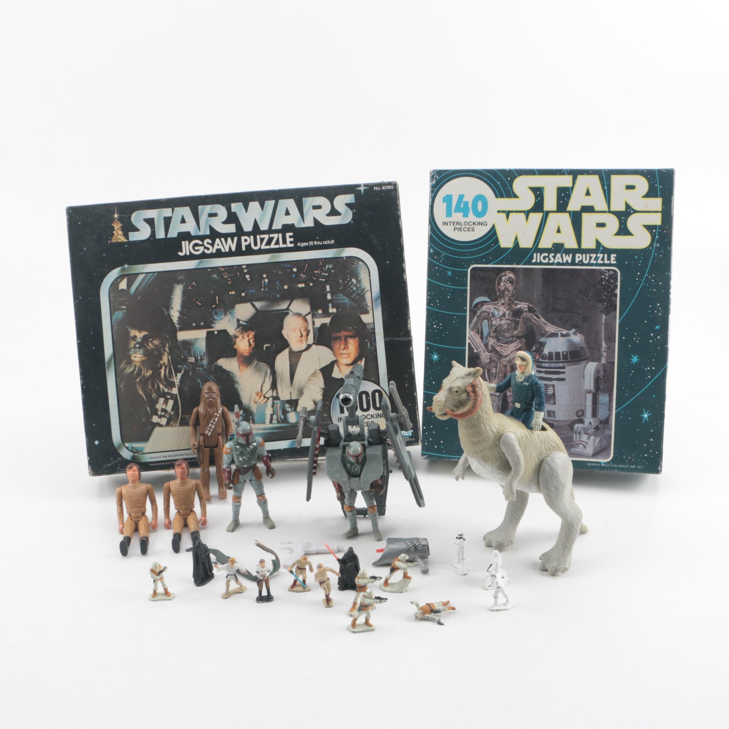 """Vintage """"Star Wars"""" and """"Battlestar Galactica"""" Toys and Puzzles"""