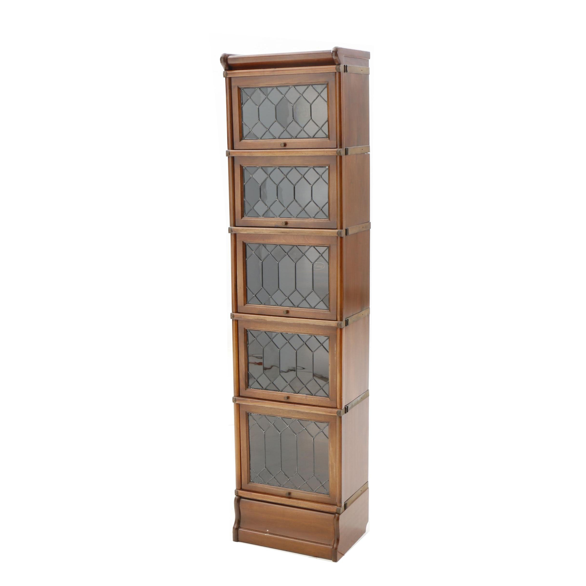 Narrow Mahogany Barrister Bookcase by Macey