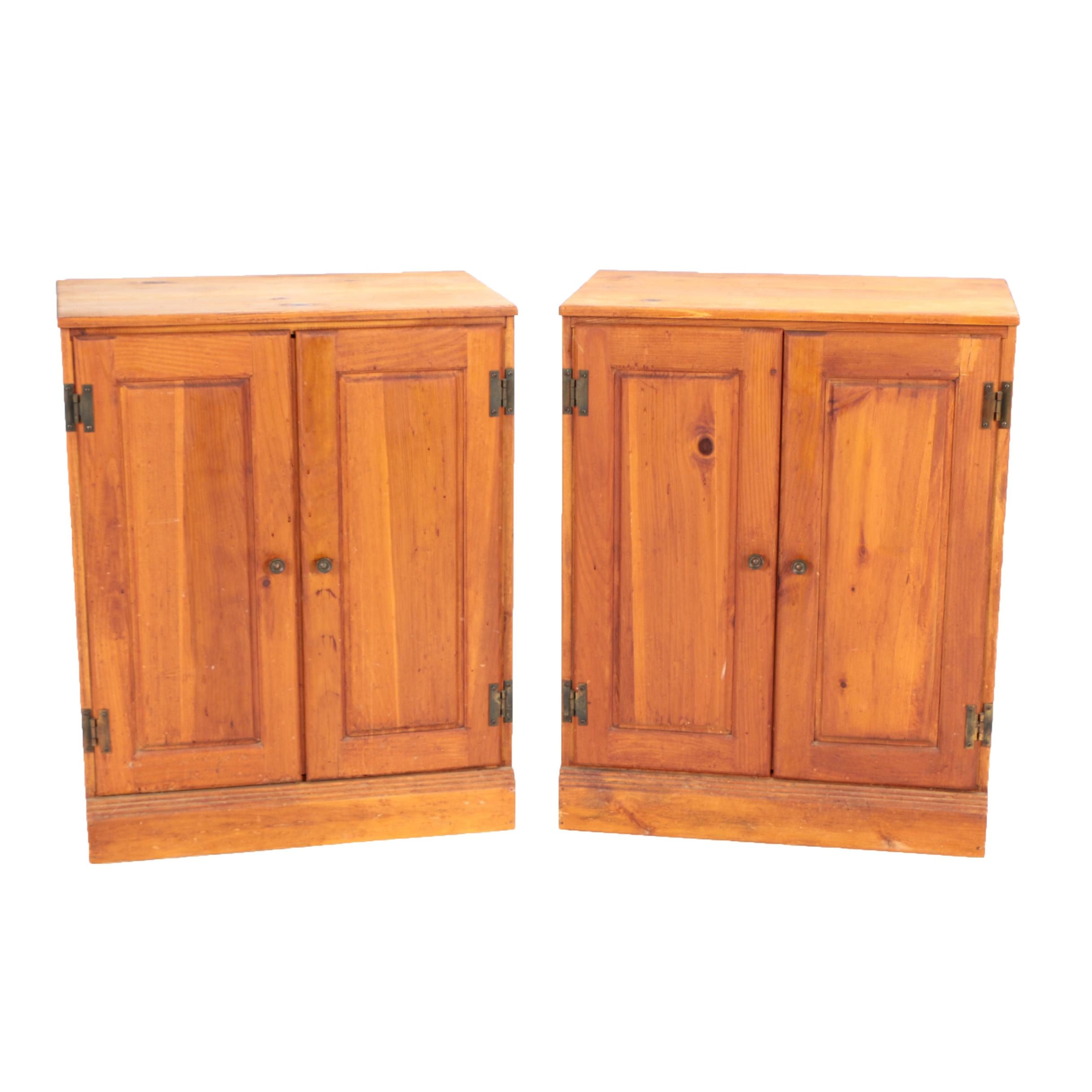 Pair of Vintage Wooden Cabinets