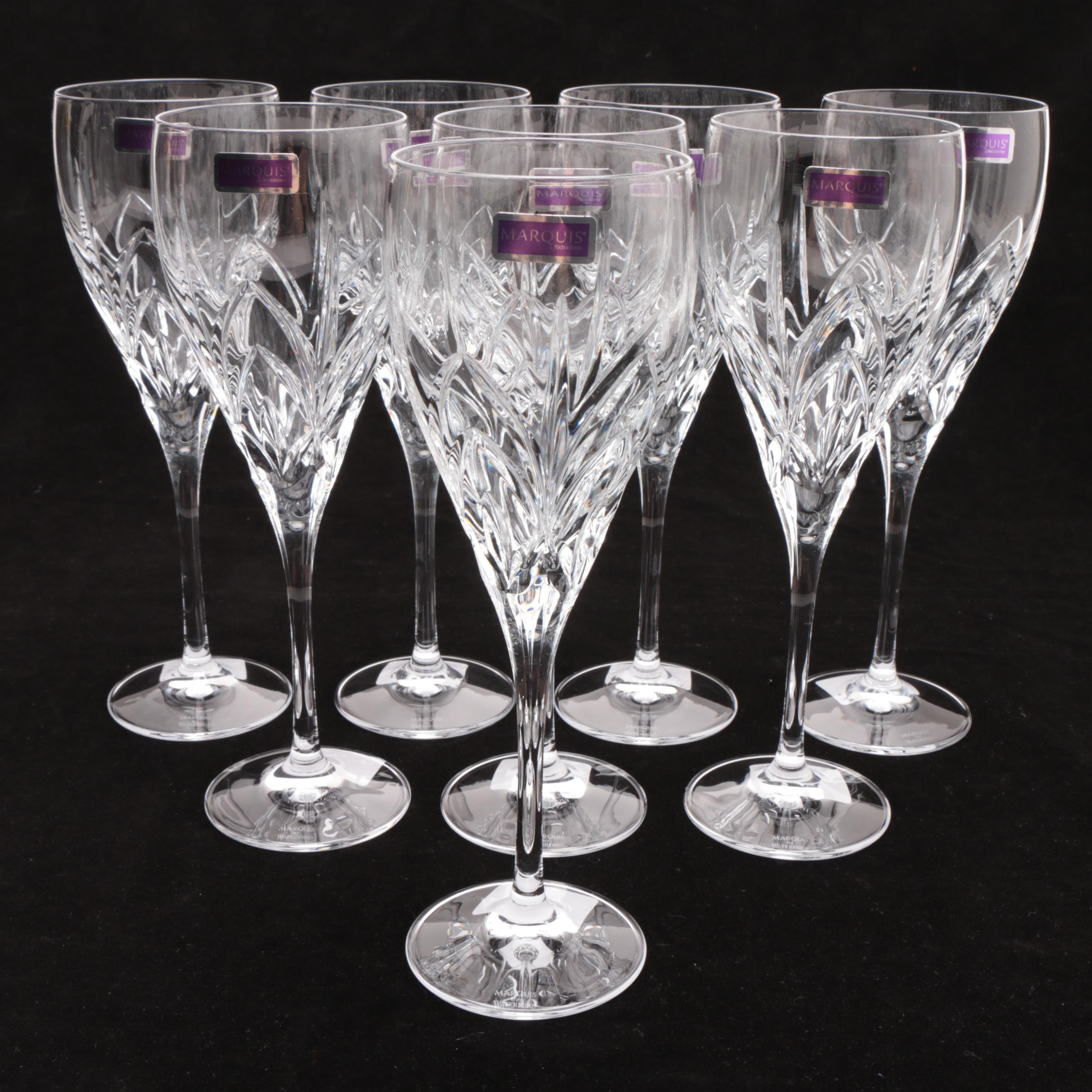 """Marquis by Waterford """"Caprice"""" Crystal Wine Goblets"""