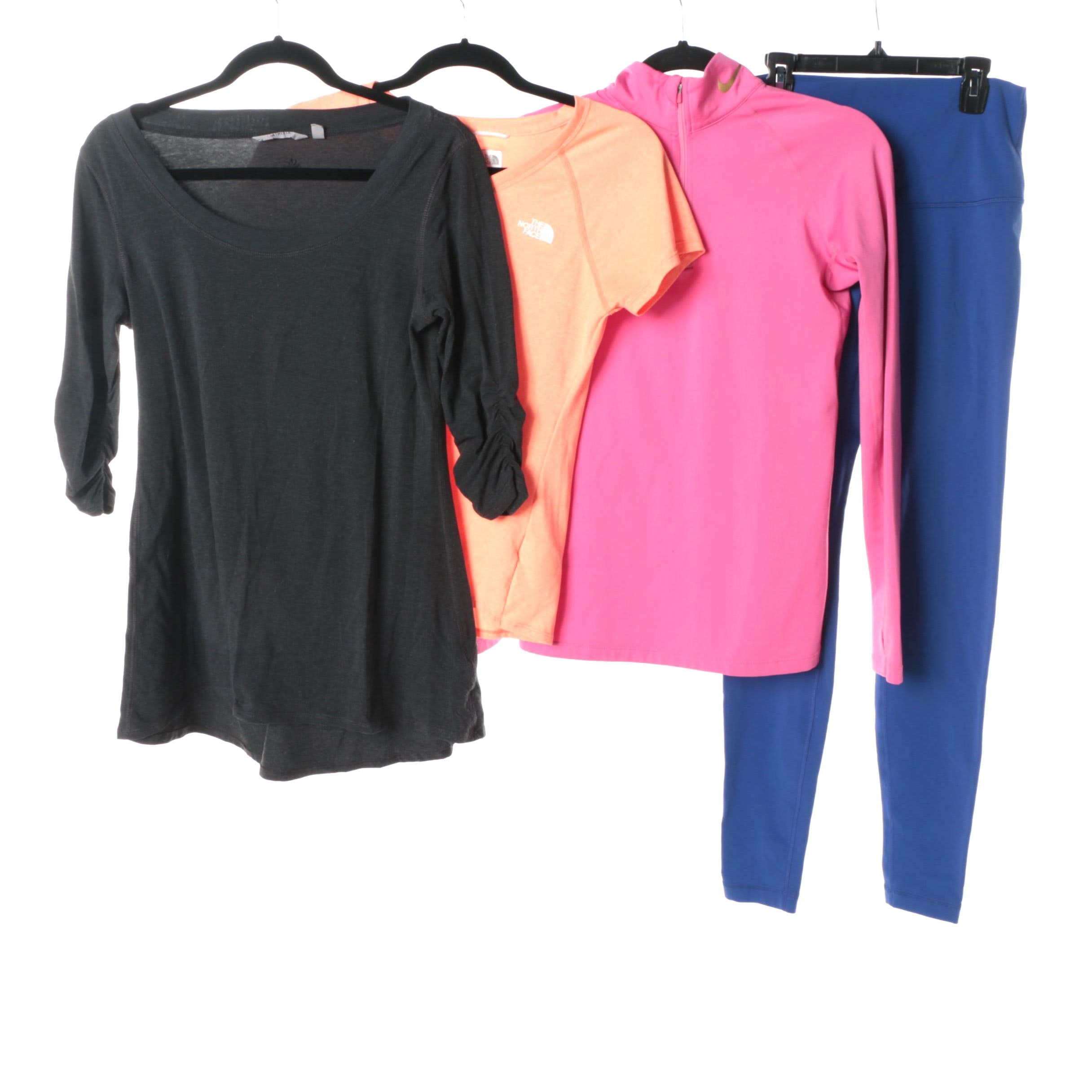 Women's Lululemon, The North Face, Nike and Athleta Athletic Wear