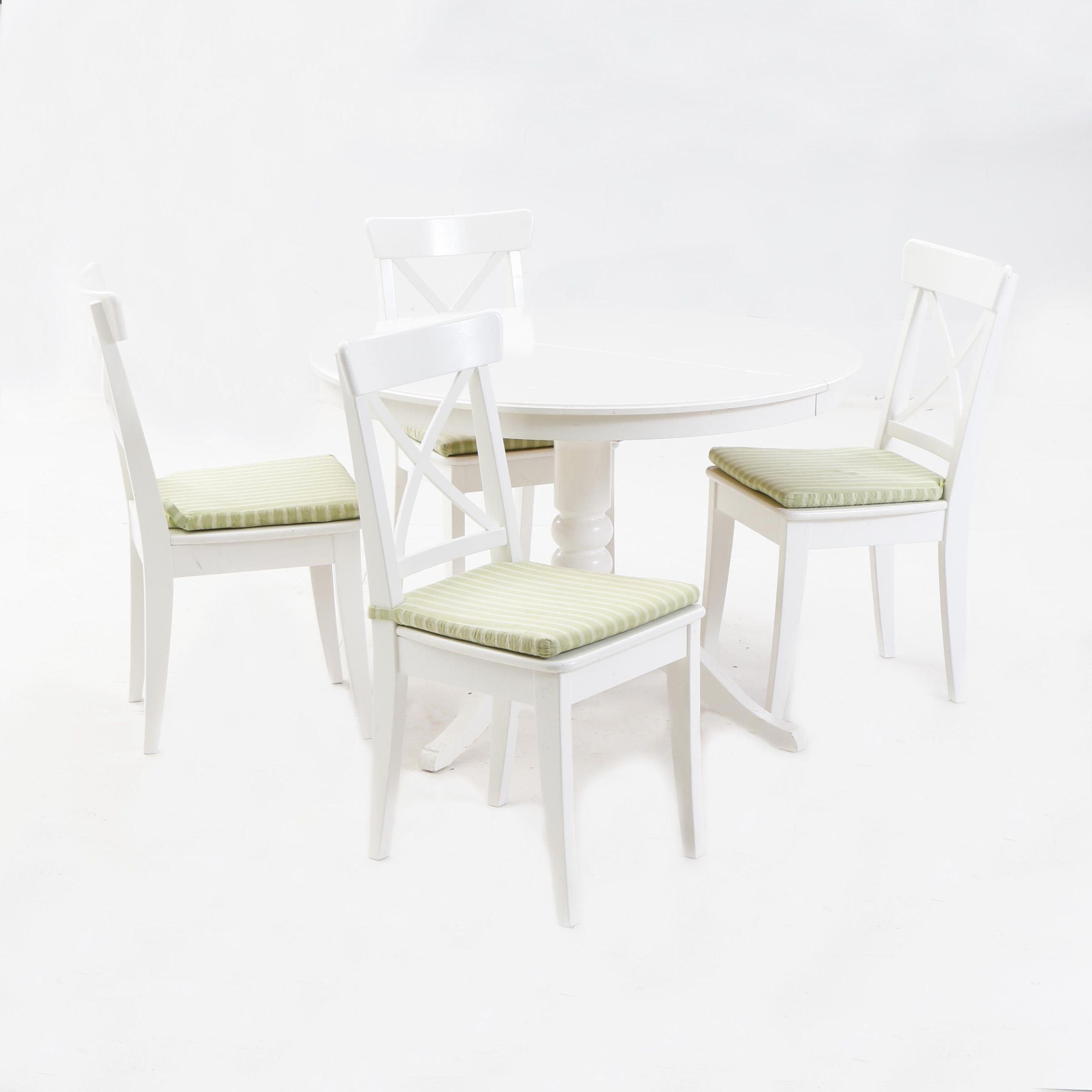 IKEA Ingolf Dinette Set in White