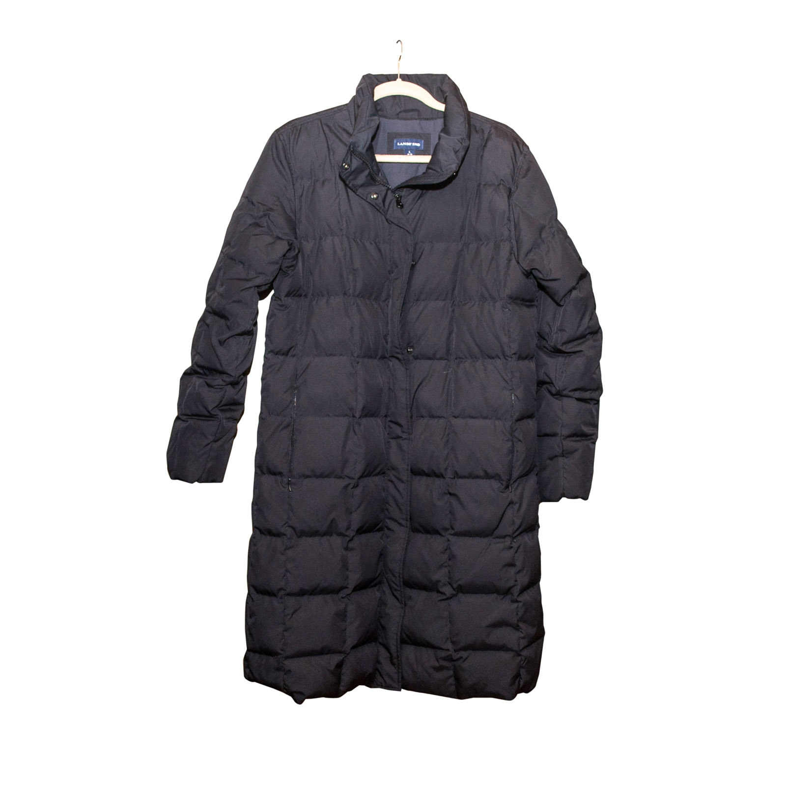 Lands' End Black Down Coat