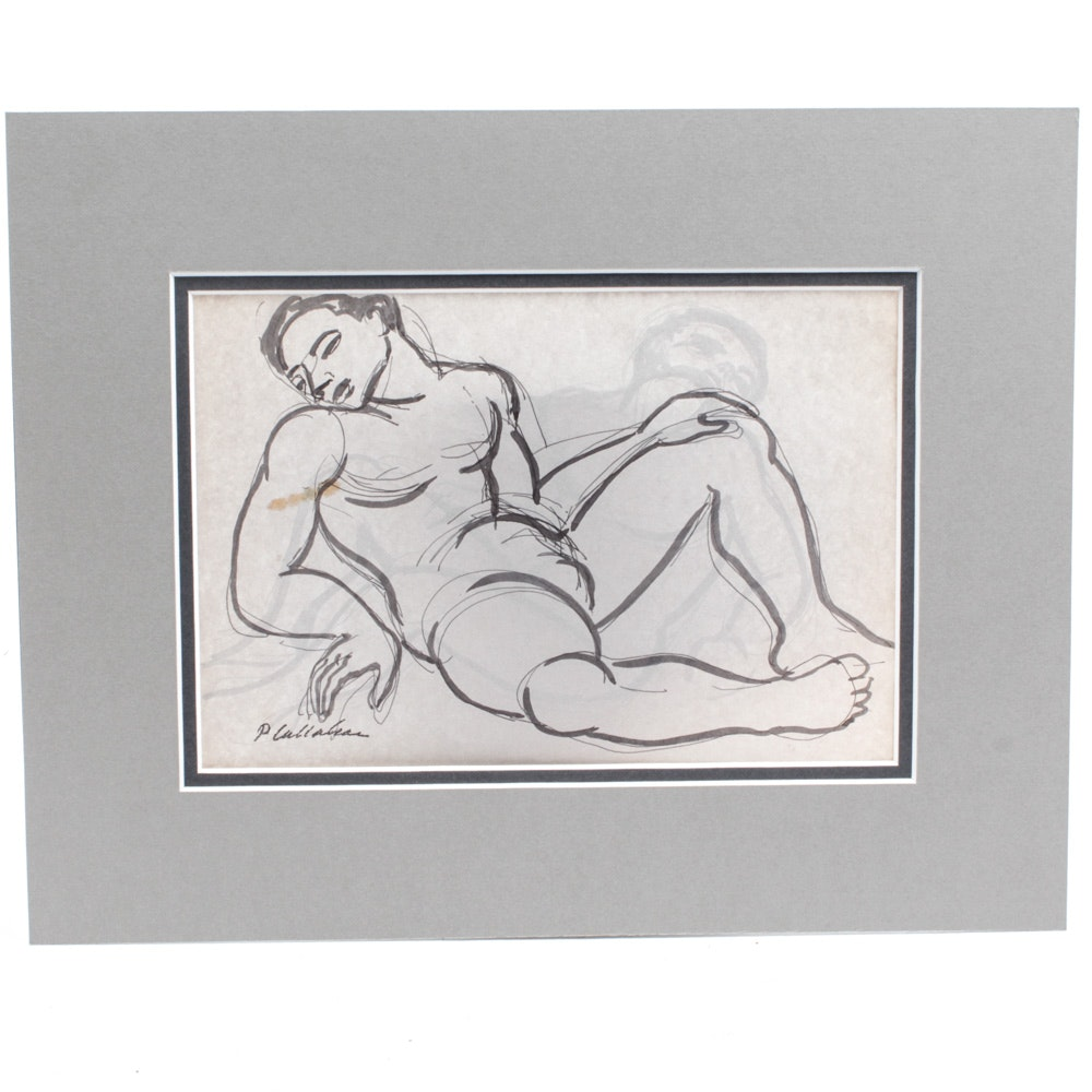 Philip Callahan Sketch Male Nude
