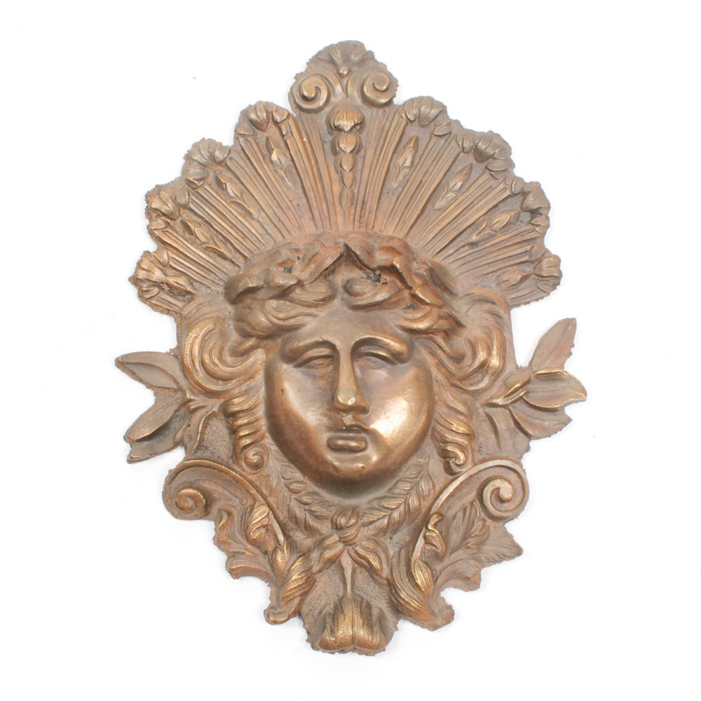Antique French Bronze Figural Furniture Ornament