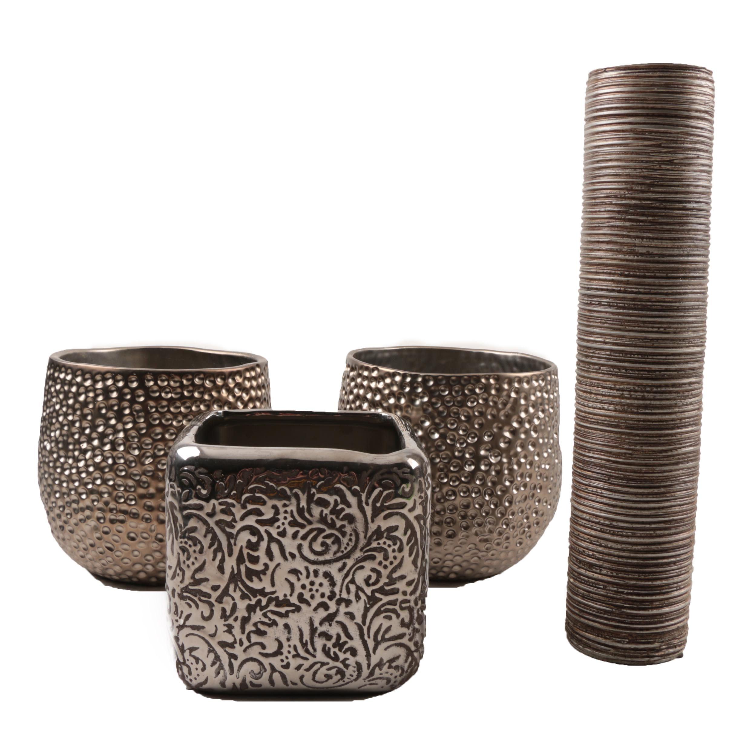 Decorative Metallic Glazed Vases