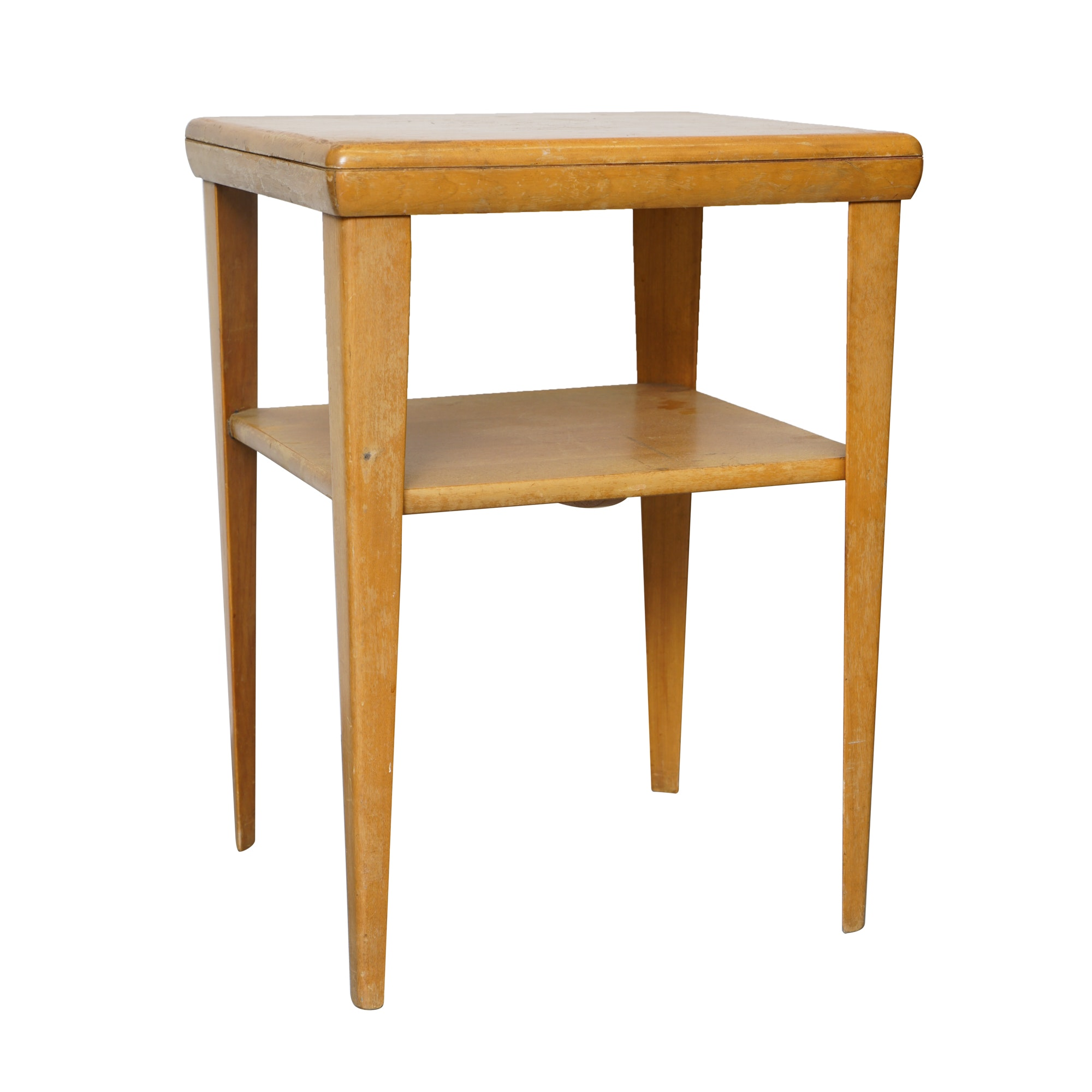 Heywood-Wakefield Vintage Mid-Century Champagne Finish Accent Table