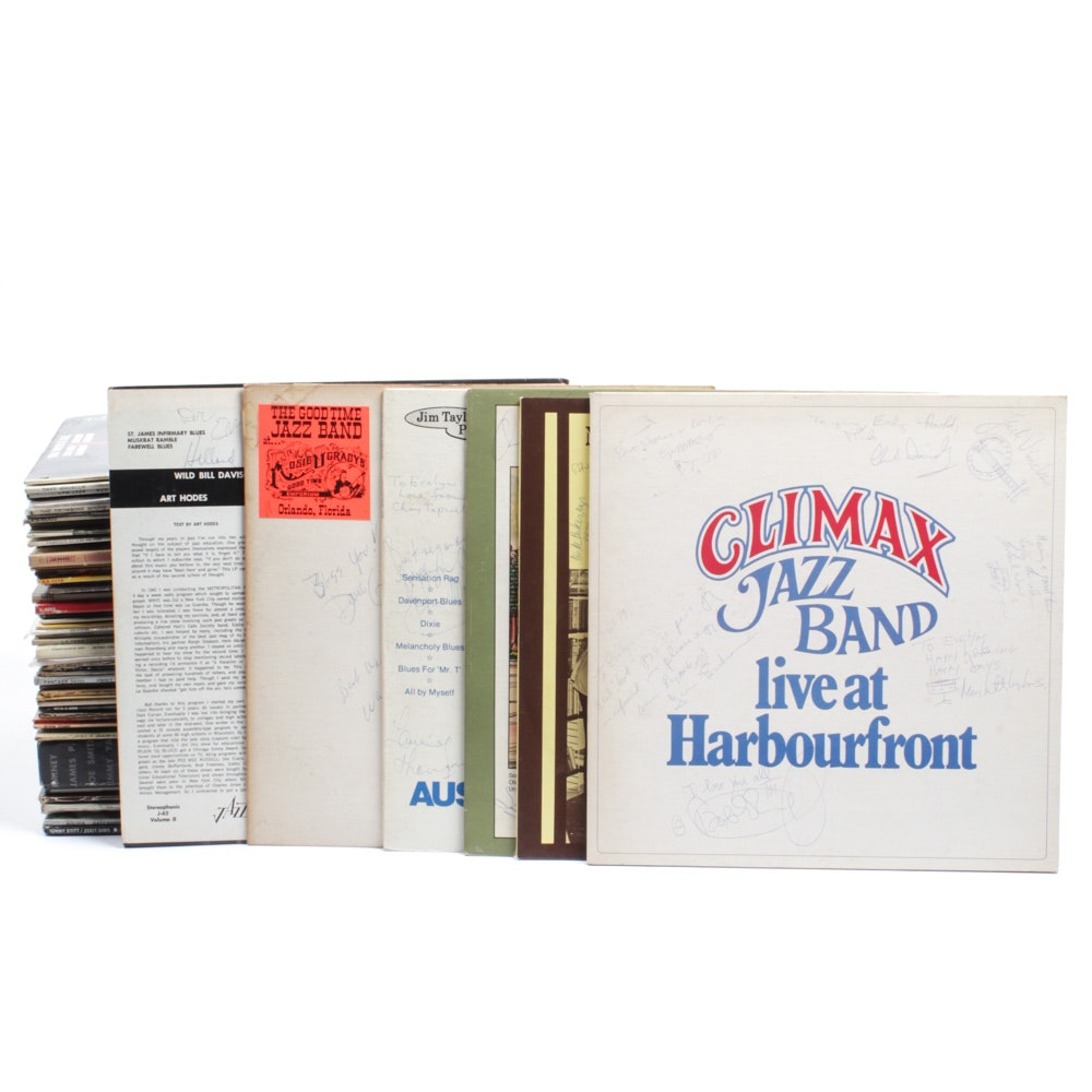 Vintage Jazz Themed Record Albums