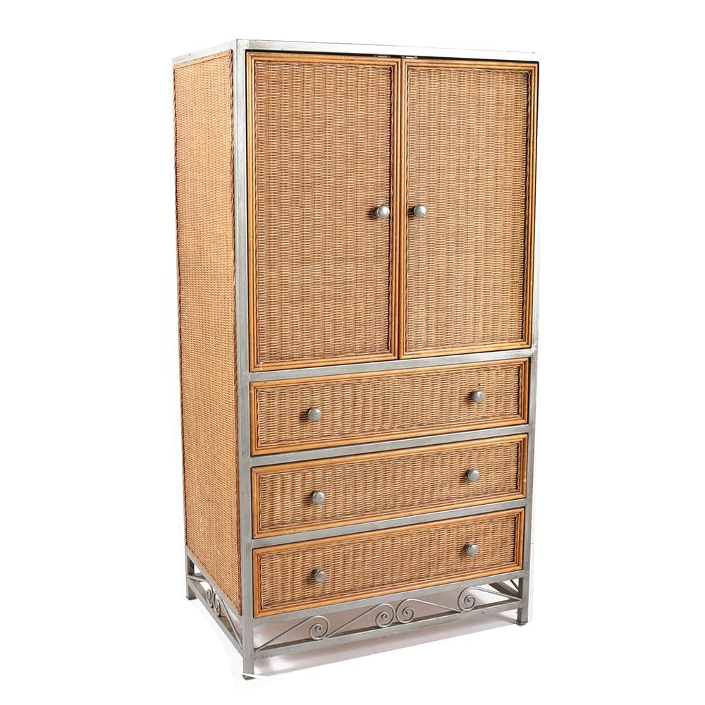 Woven Wicker Panel Entertainment Armoire by Pier 1 Imports