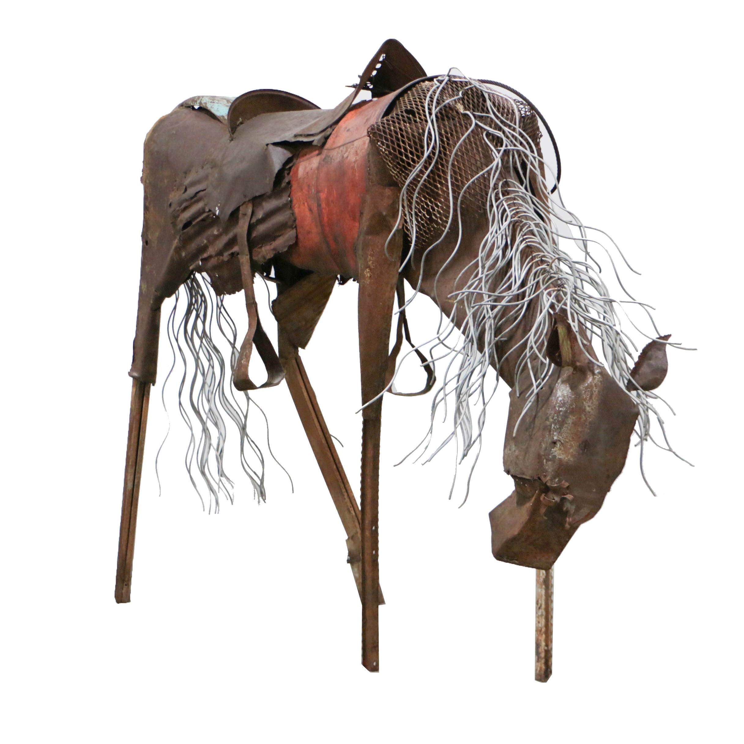 Doug Owen Monumental Recycled Metal Horse Sculpture