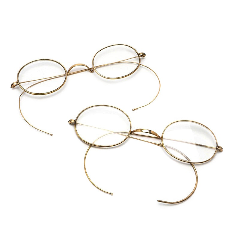 Two Pair of Vintage Gold Filled Rimmed Eyeglasses