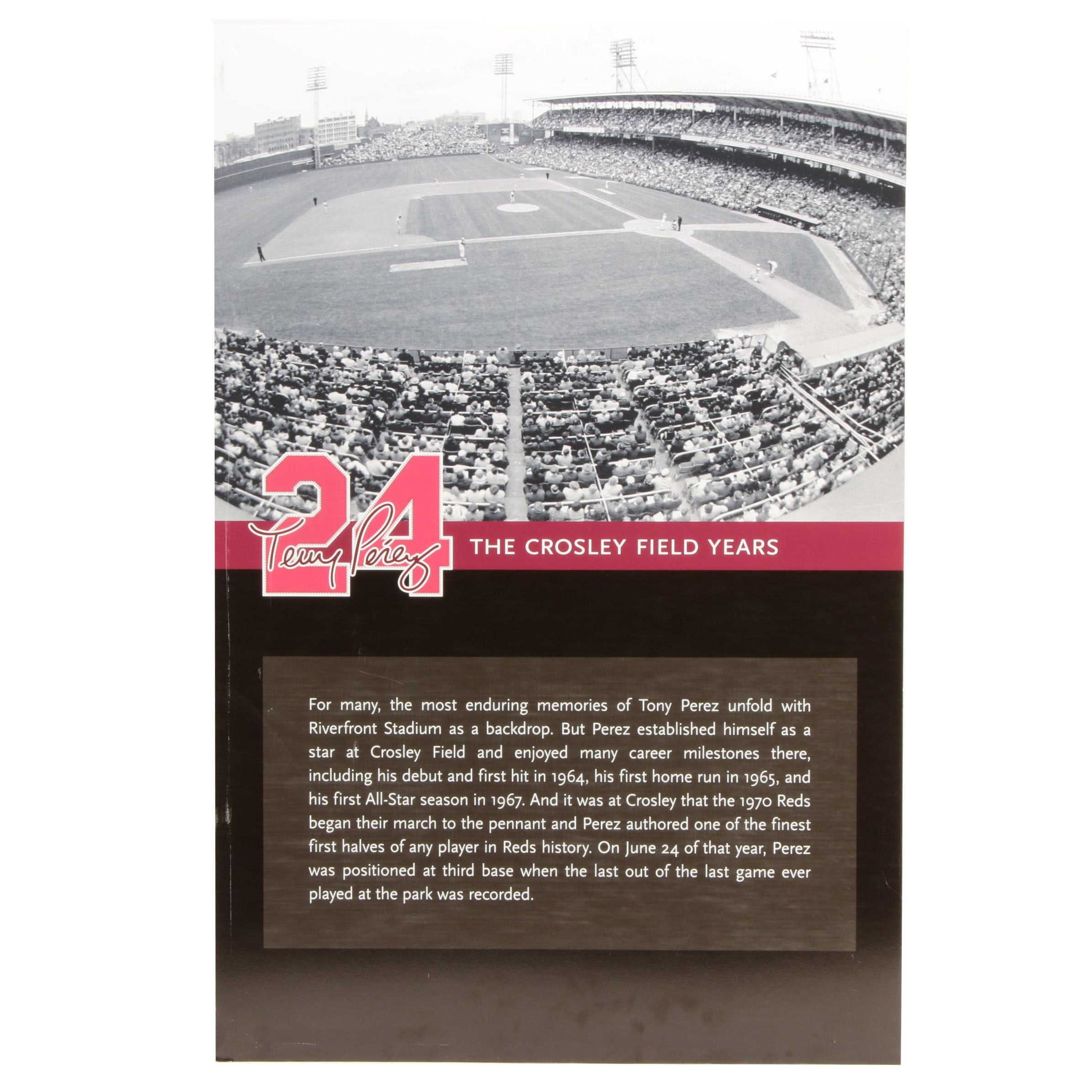 "Tony Perez ""The Crosley Field Years"" Reds Hall of Fame Exhibit Sign COA"