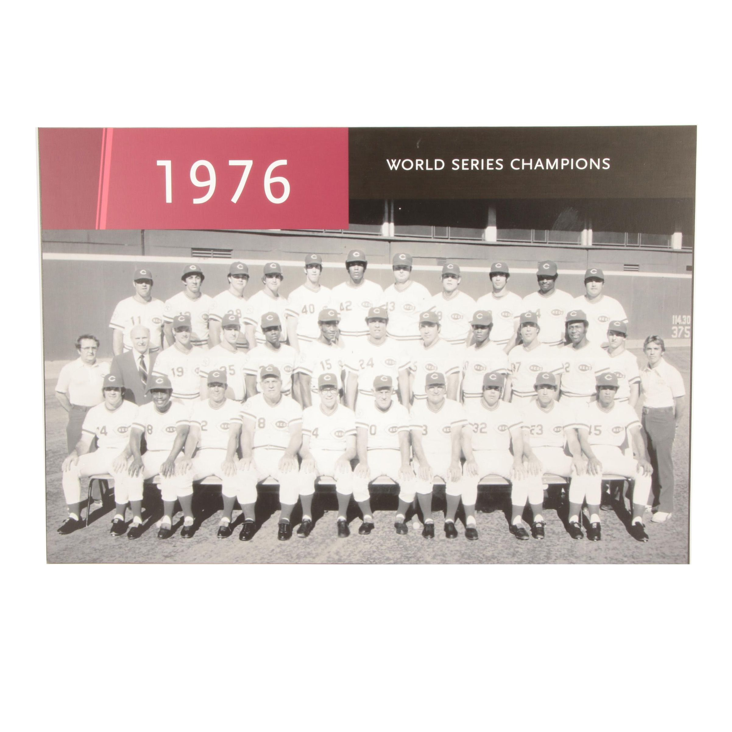 "1976 ""World Series Champions"" Team Exhibit From The Reds Hall of Fame COA"