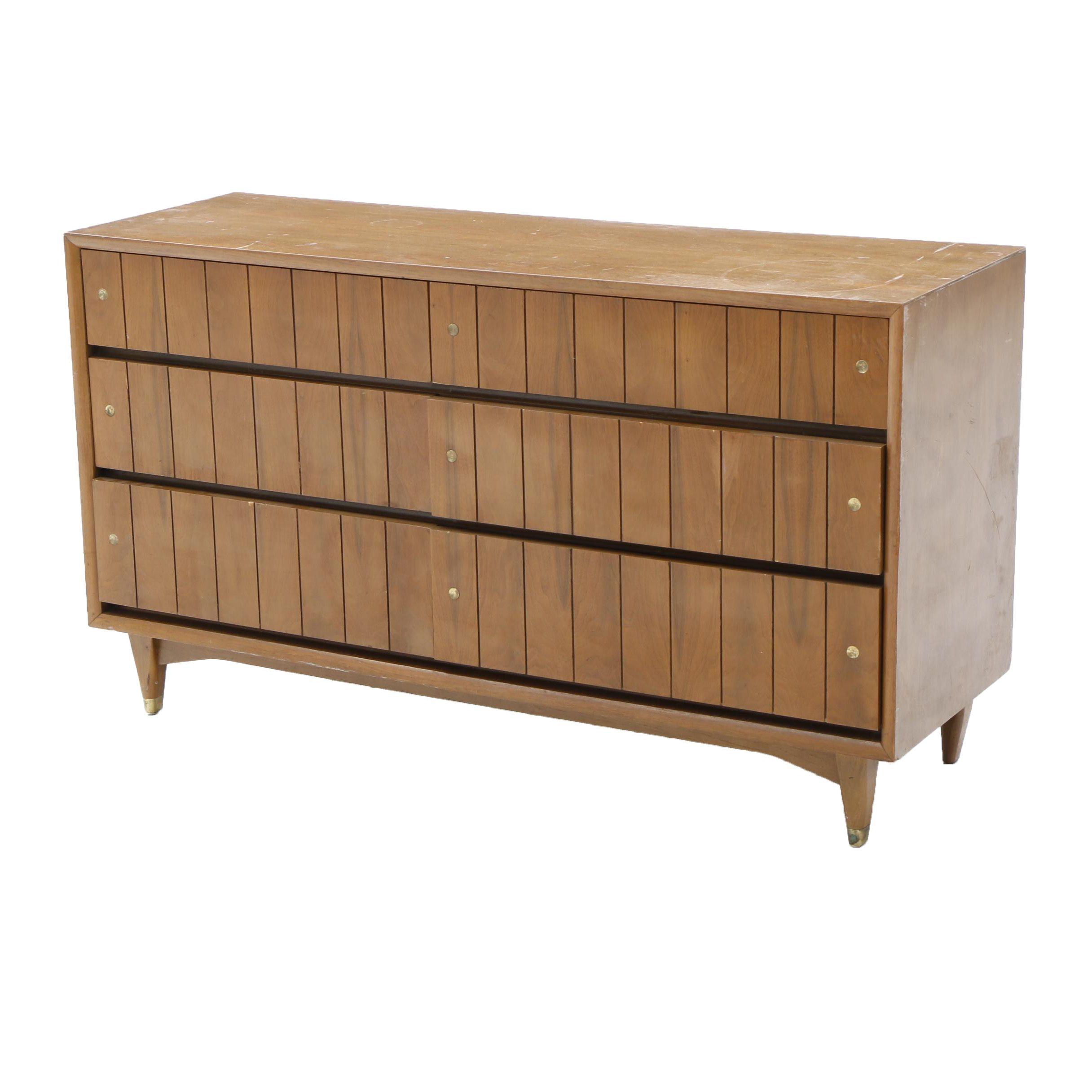 Mid Century Modern Walnut Dresser by Kroehler