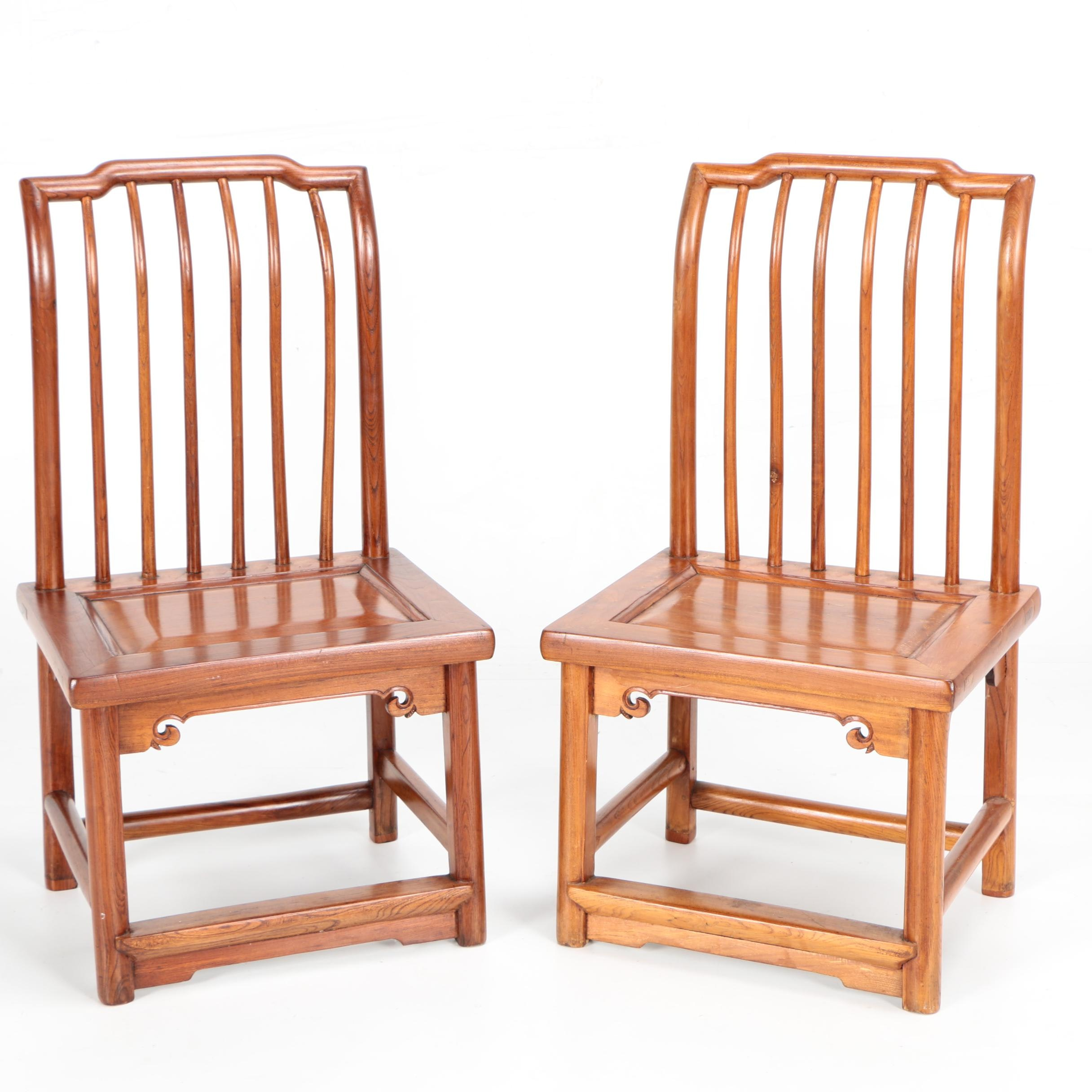 Ming Style Spindle Back Small Chairs