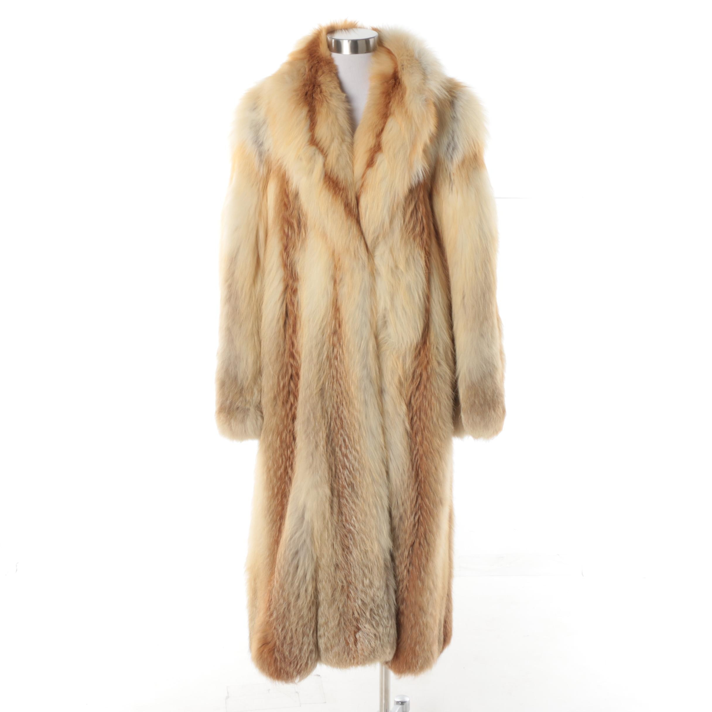 Vintage Full-Length Red Fox Fur Coat