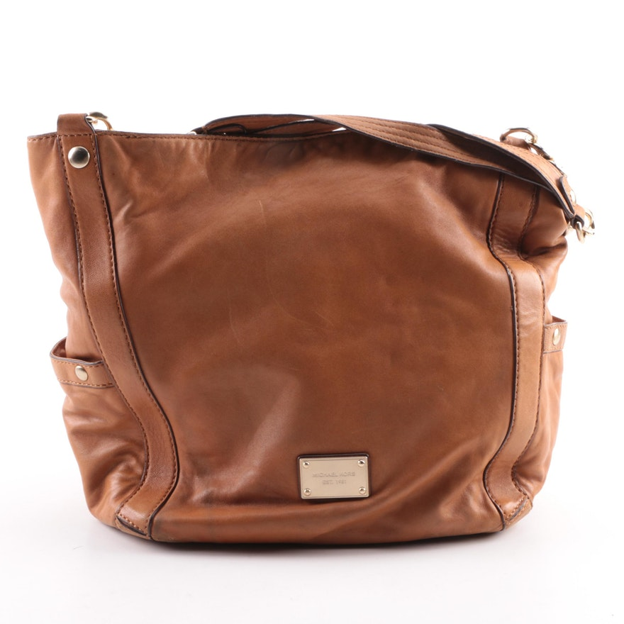 1ade5826fe7 Michael Kors black leather hobo bag