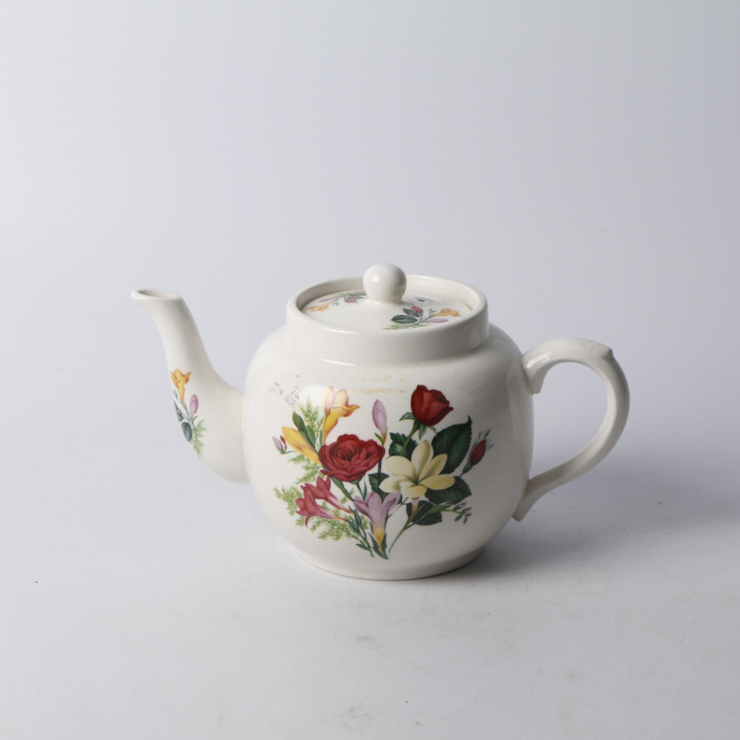 Vintage Price Kensington Floral-Themed Teapot