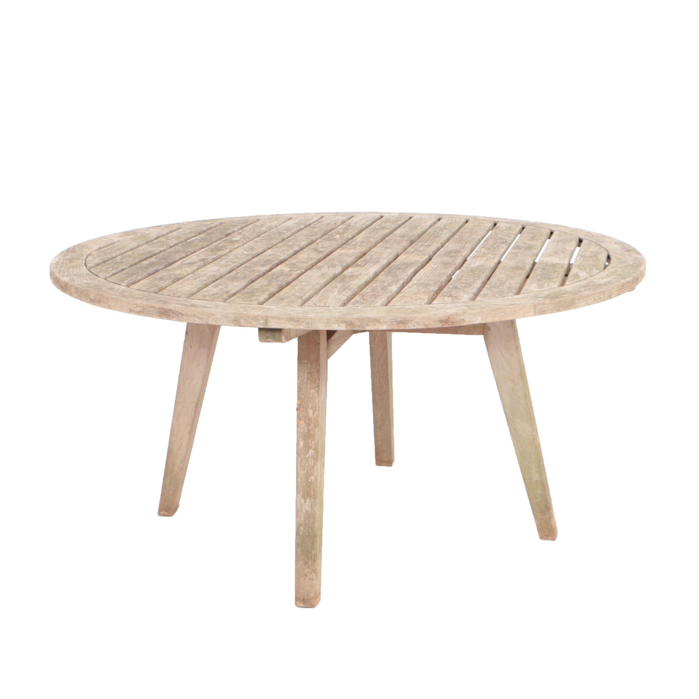 """Kingsley Bate """"Algarve"""" Round Teak Outdoor Dining Table"""