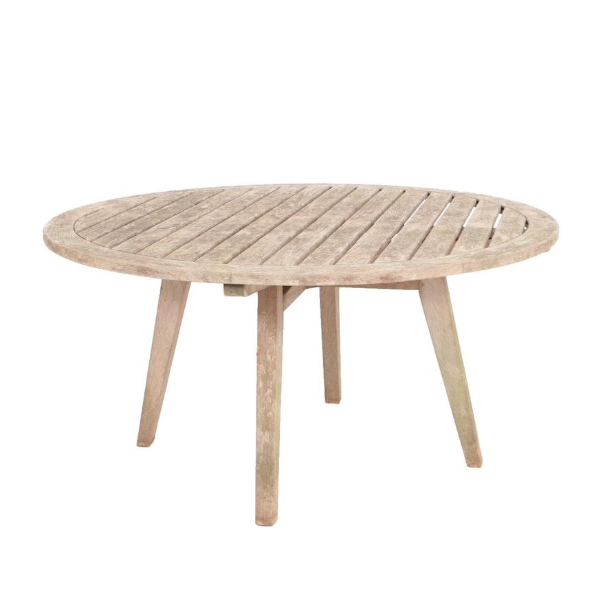 Kingsley Bate Algarve Round Teak Outdoor Dining Table