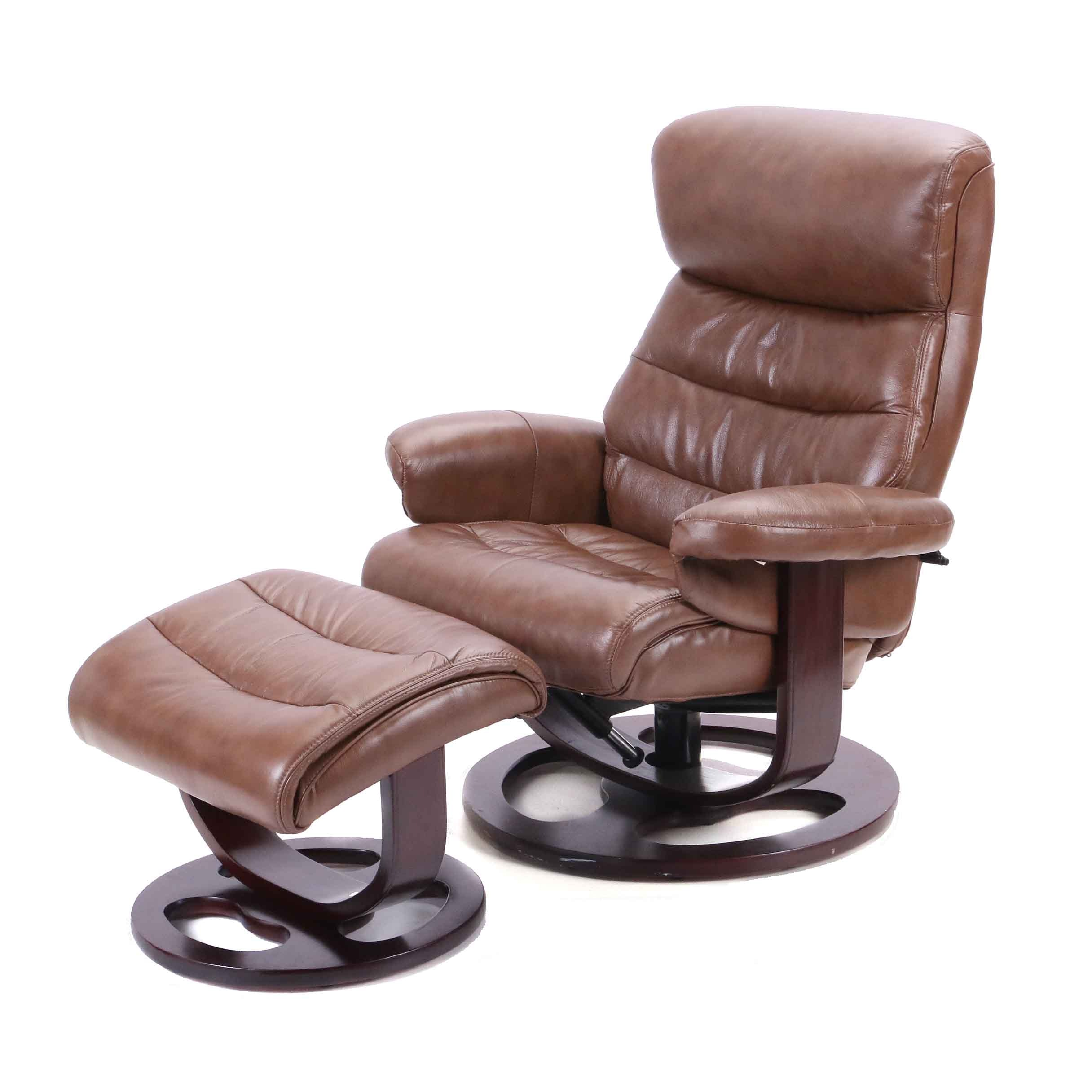 "Ekornes ""Stressless"" Recliner with Ottoman"