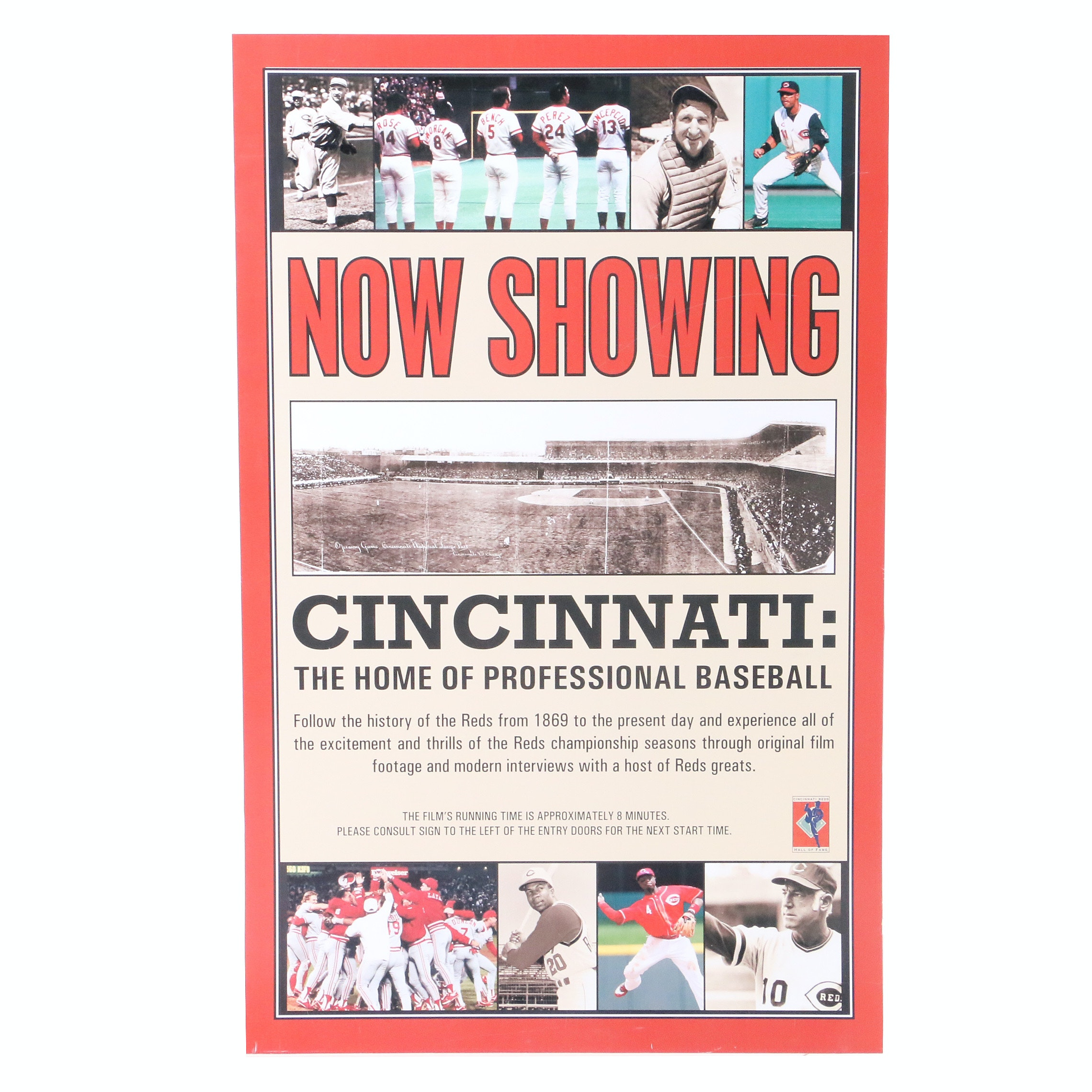 """Cincinnati Home of Professional Baseball"" Exhibit From Hall of Fame COA"