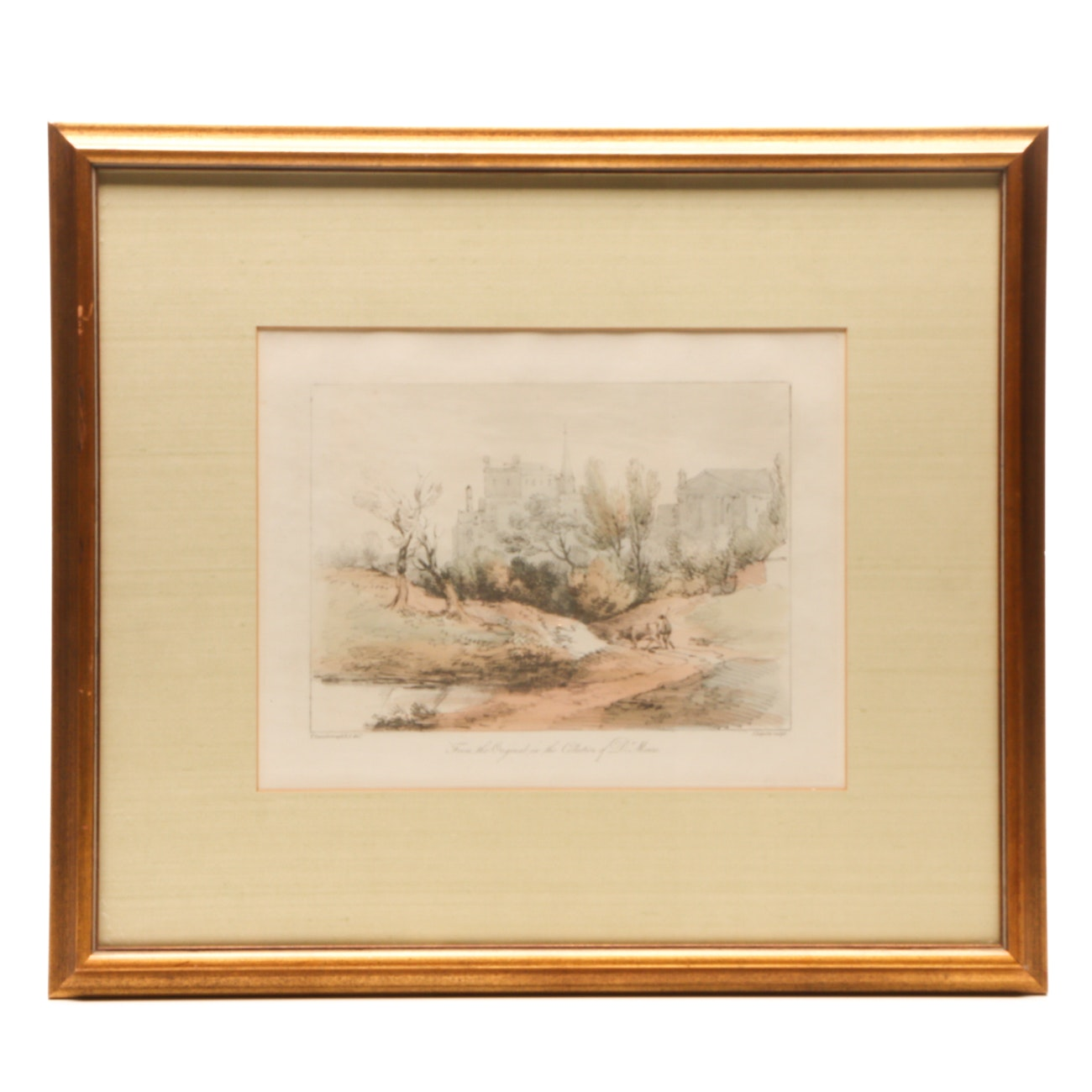 Hand-colored Lithograph after Thomas Gainsborough Pastoral Scene