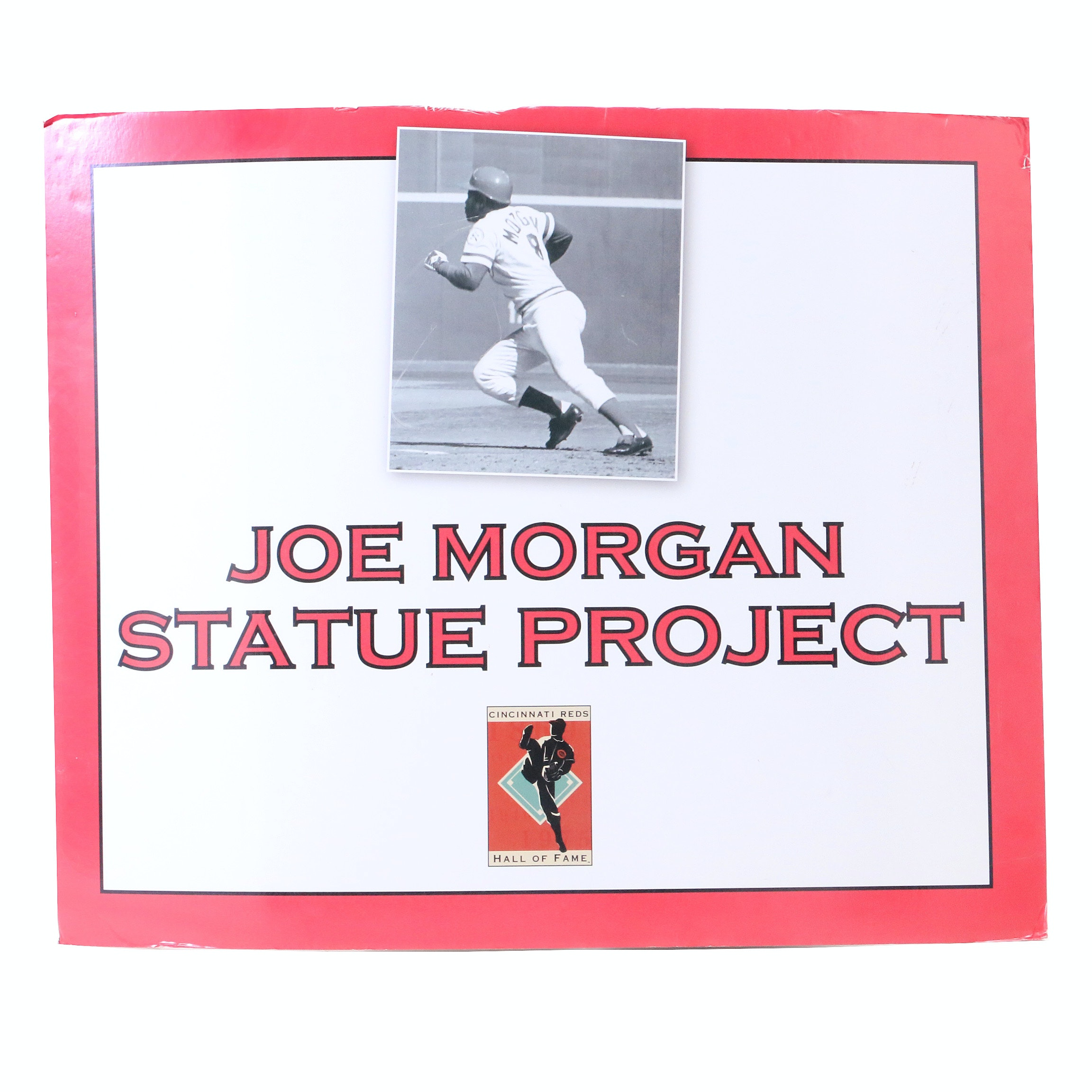"Joe Morgan ""Statue Project""  Reds Hall of Fame Sign COA"