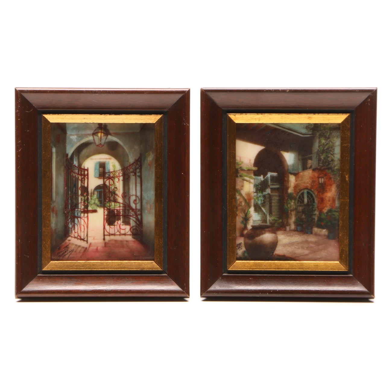 Two C. Bennette Moore Hand-colored Photographs on Composite
