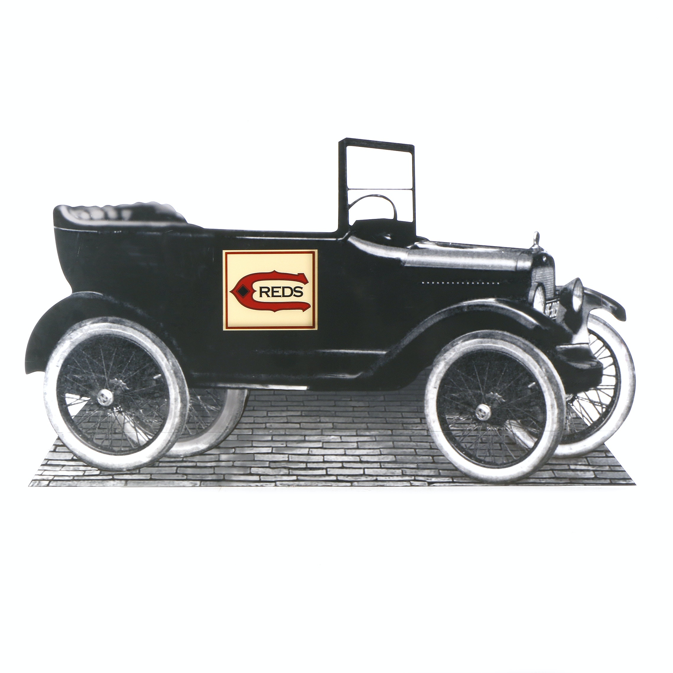 "Reds Hall of Fame ""1919 Old Car"" Reds Exhibit Sign COA"