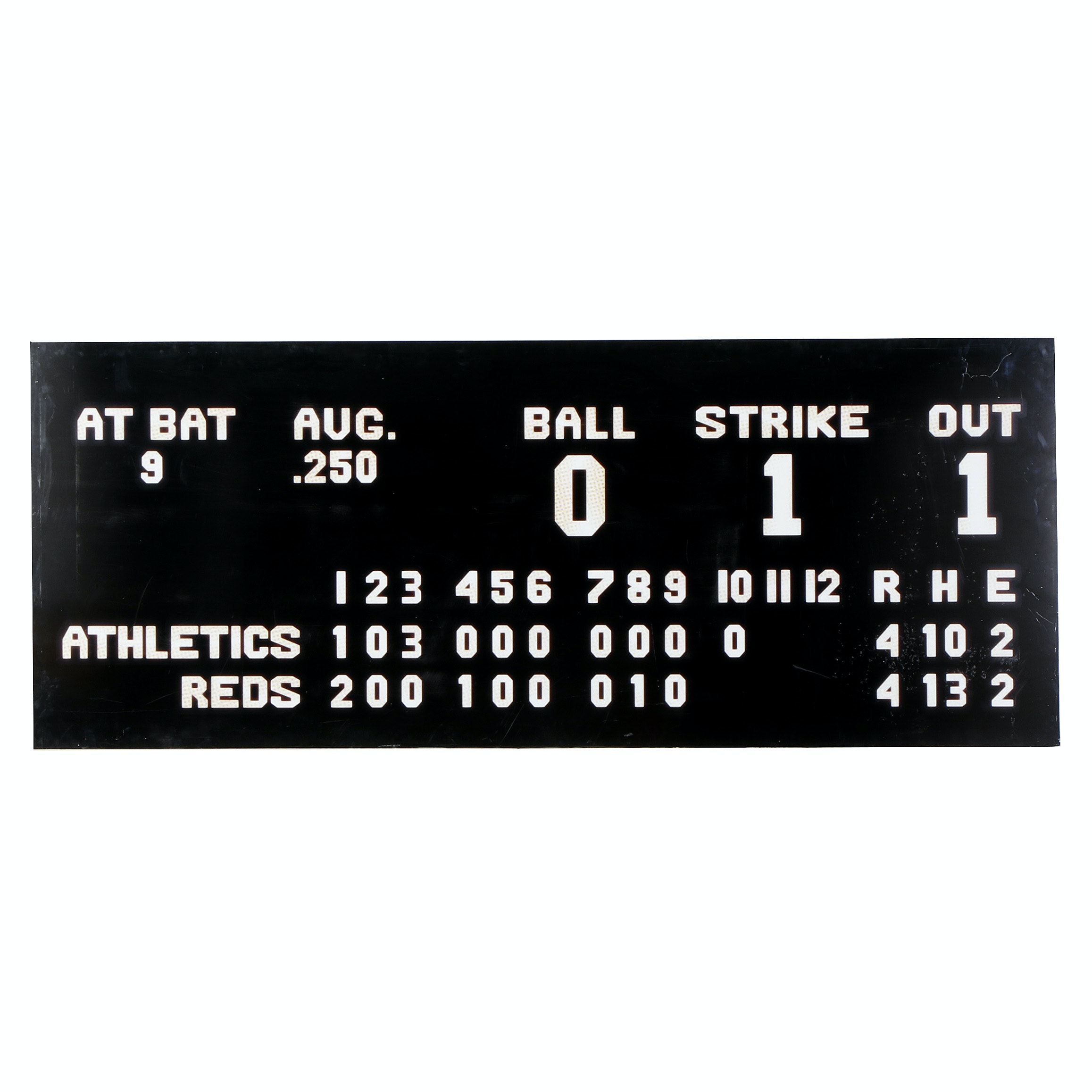 "Reds Hall of Fame ""Game 2 World Series Scoreboard"" Exhibit Sign COA"