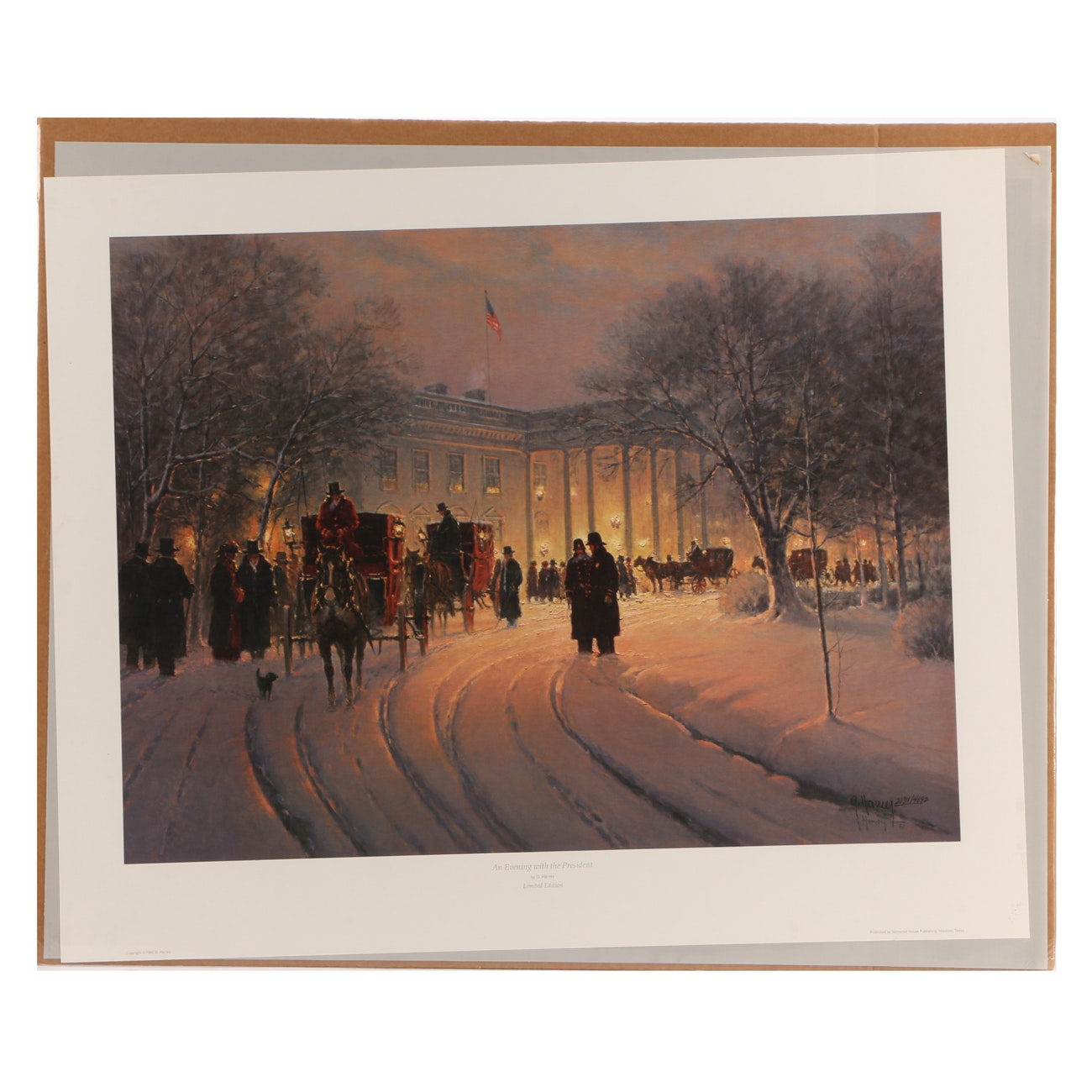 "G. Harvey Signed 1990 Limited Edition Offset Lithograph ""An Evening with the..."""