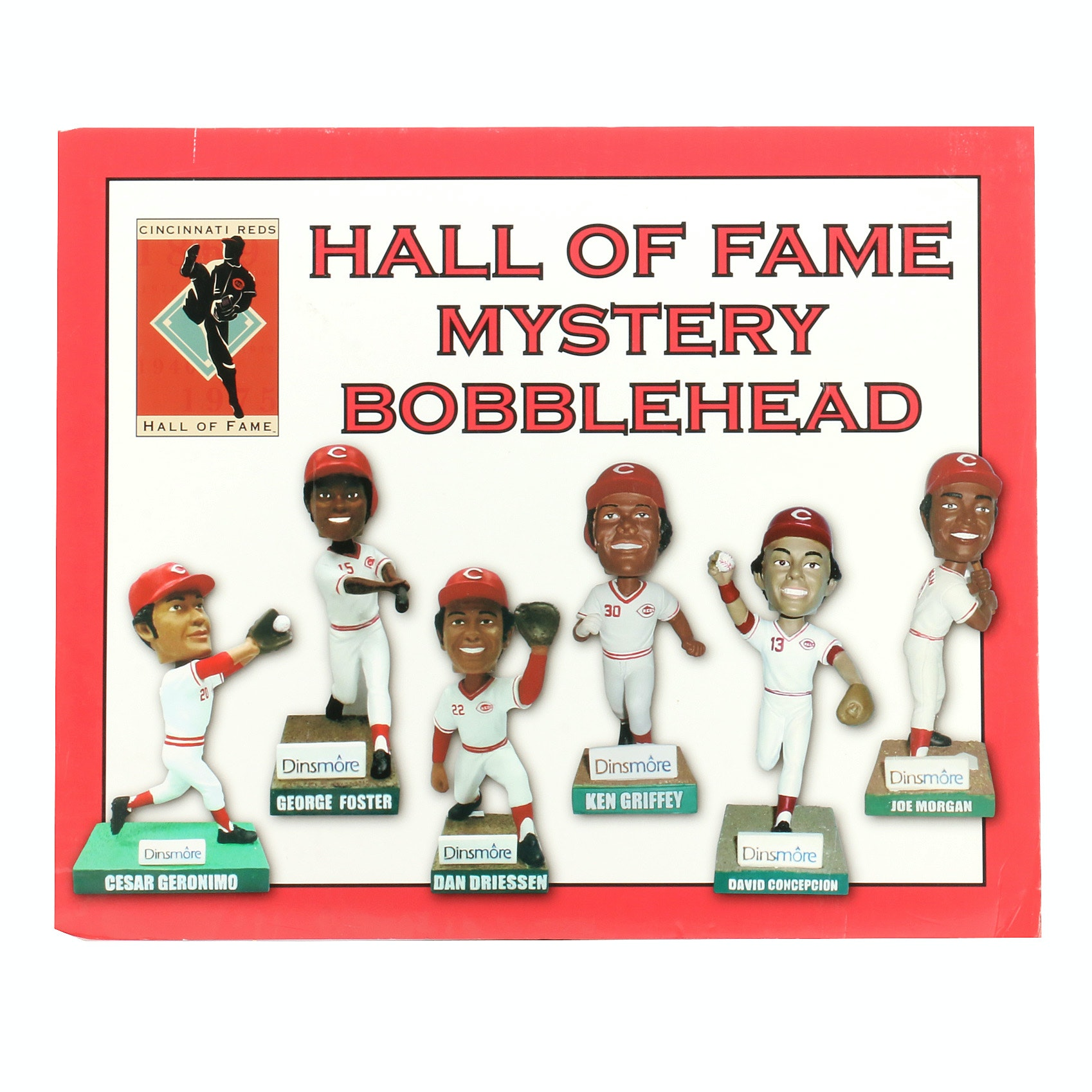 "Reds Hall of Fame ""Bobblehead Display"" Exhibit Sign COA"