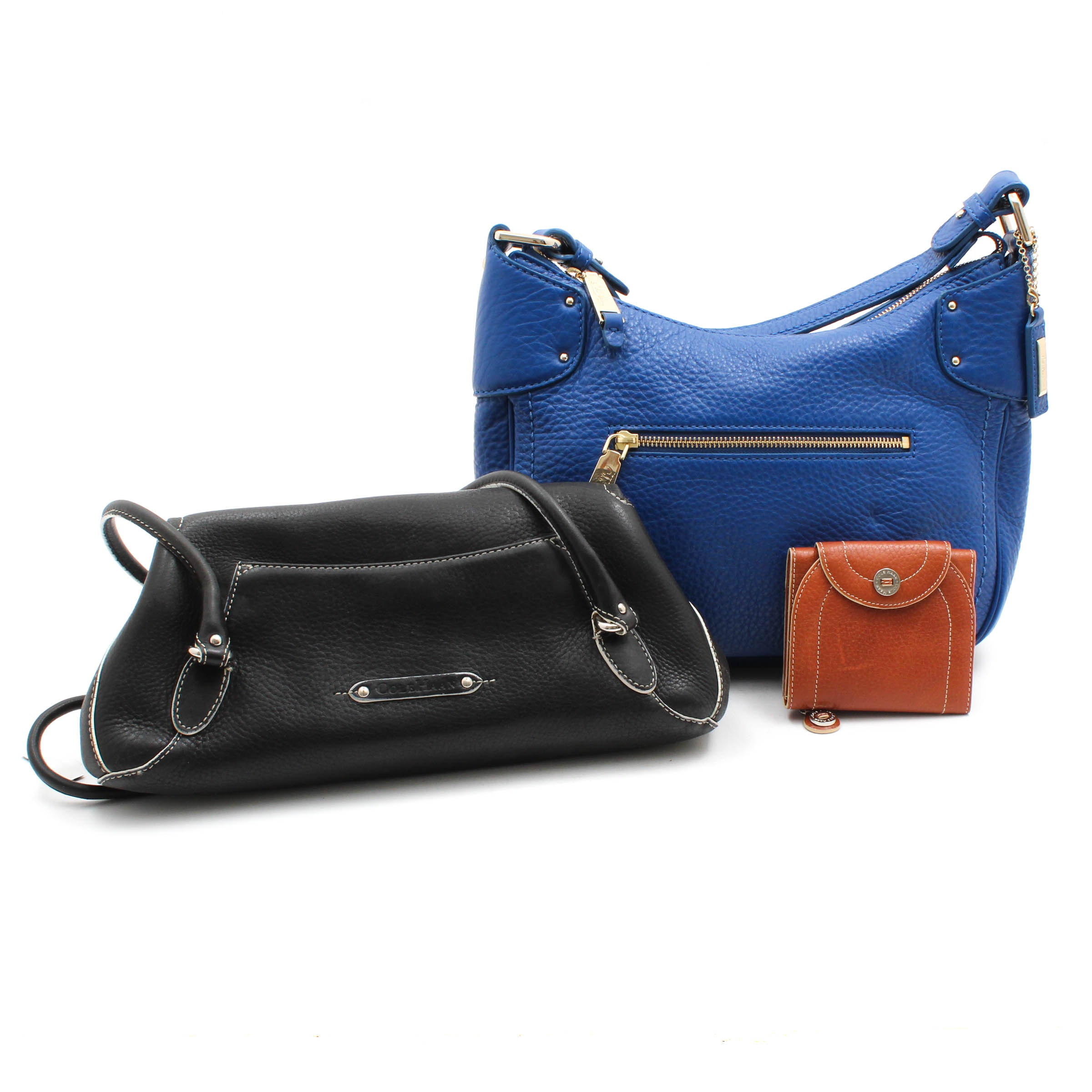 Cole Haan Pebbled Leather Shoulder Bags and Wallet