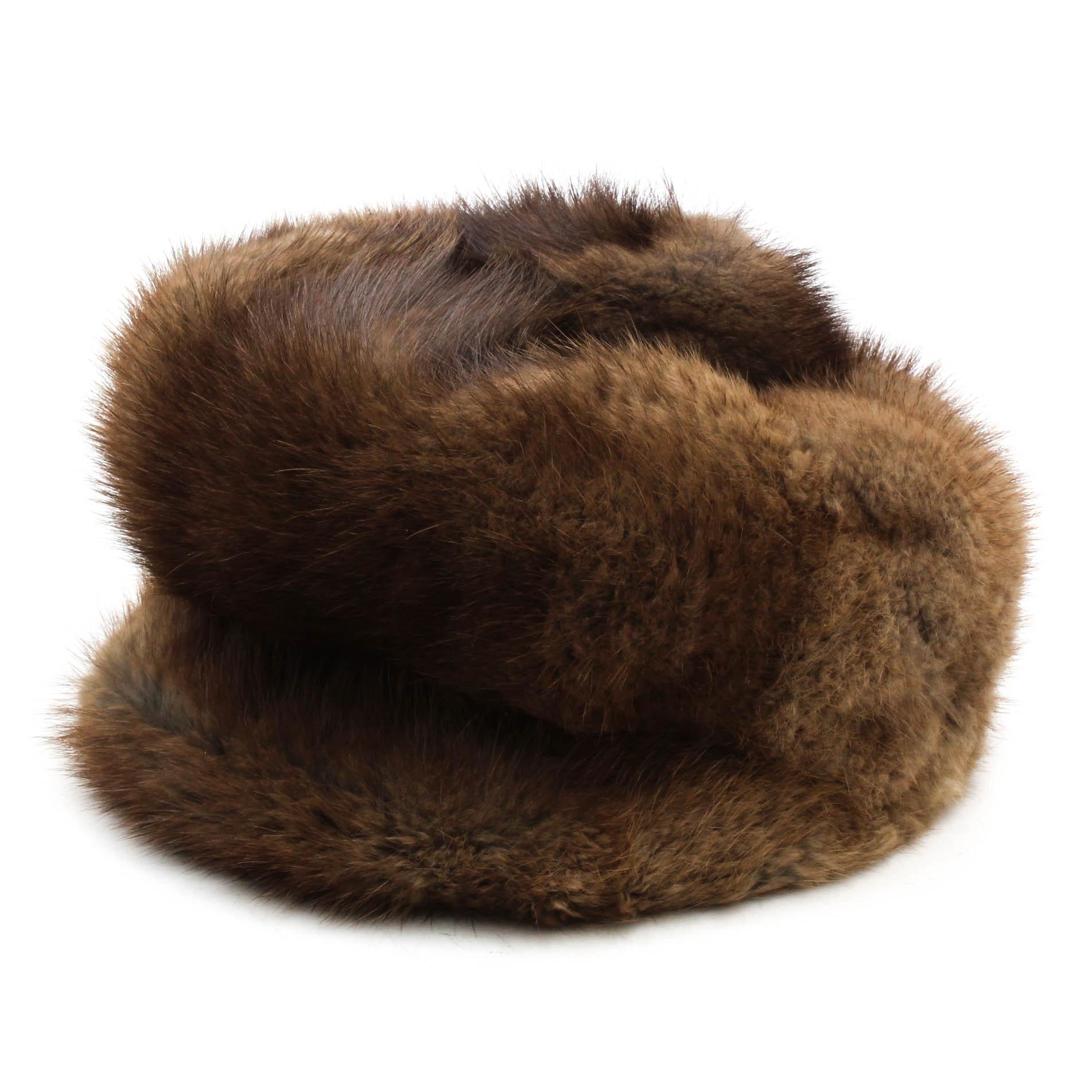 Vintage Davidson's Muskrat Fur Hat