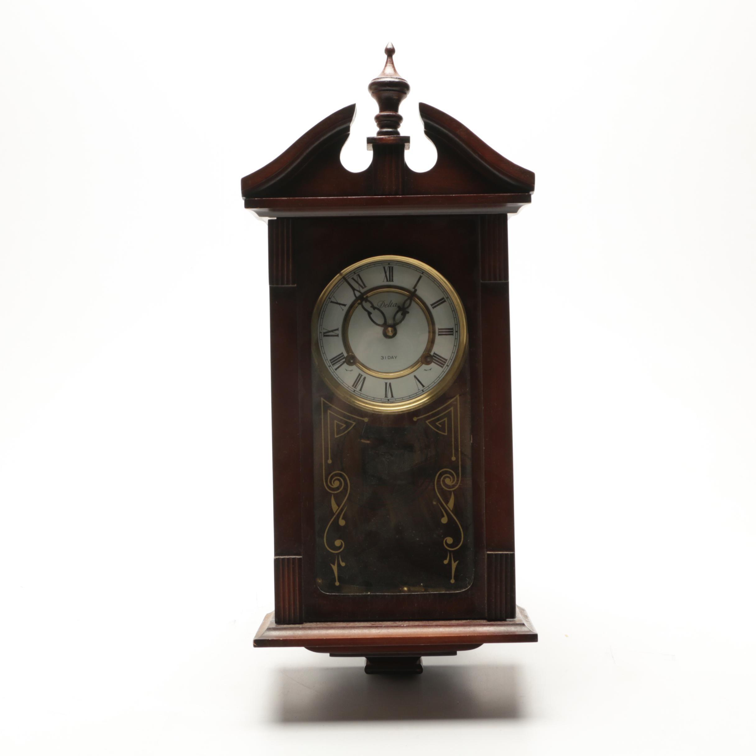 Delta 31-Day Chiming Wall Clock
