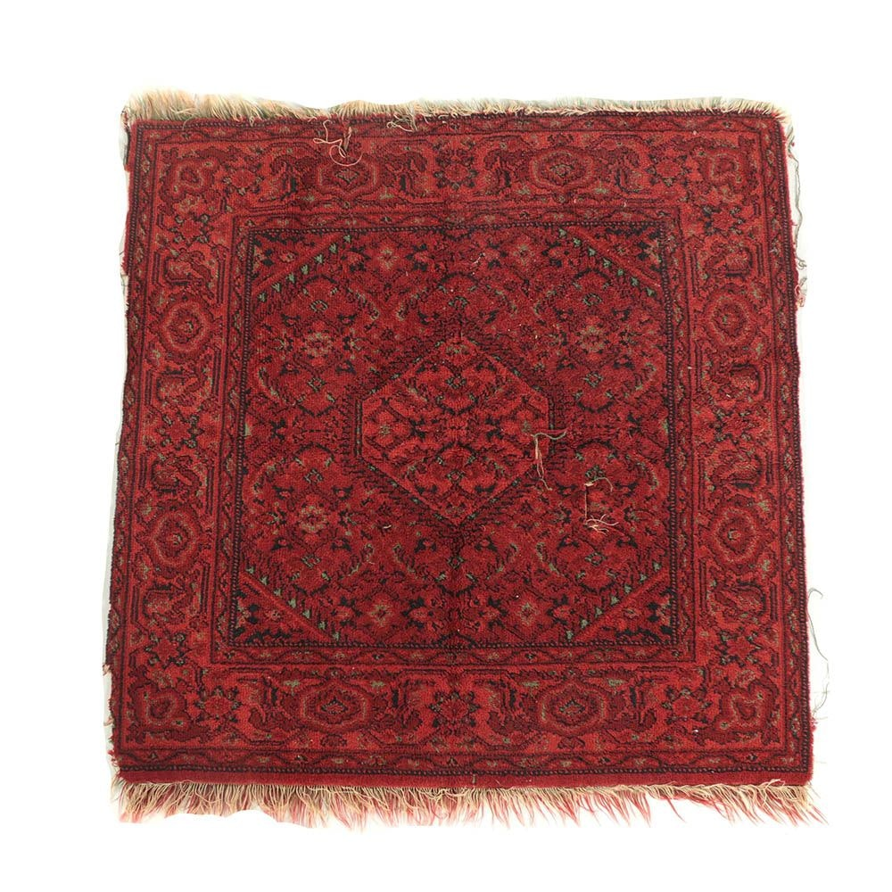 Vintage Power-Loomed Persian-Style Accent Rug
