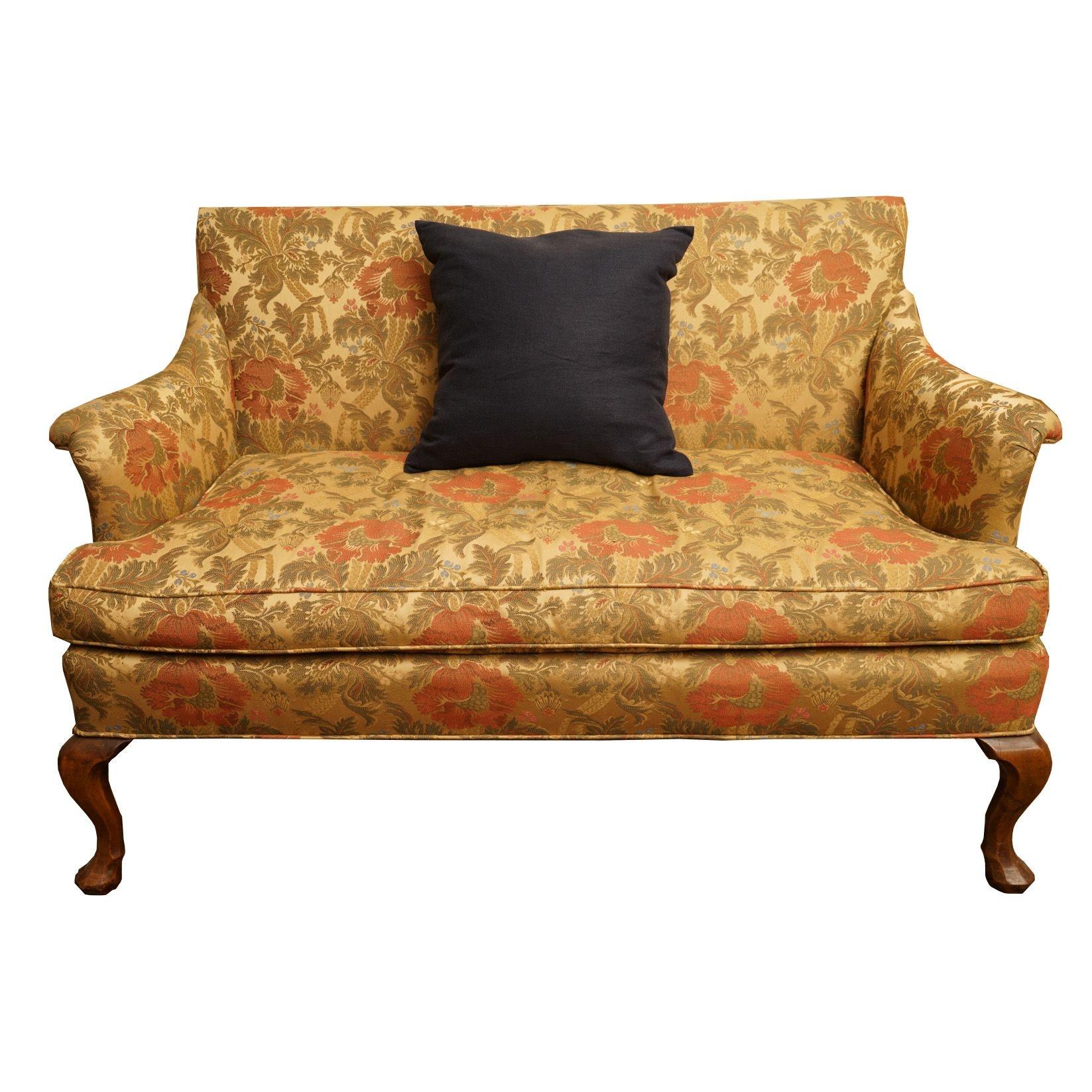 Vintage Floral Upholstered Settee