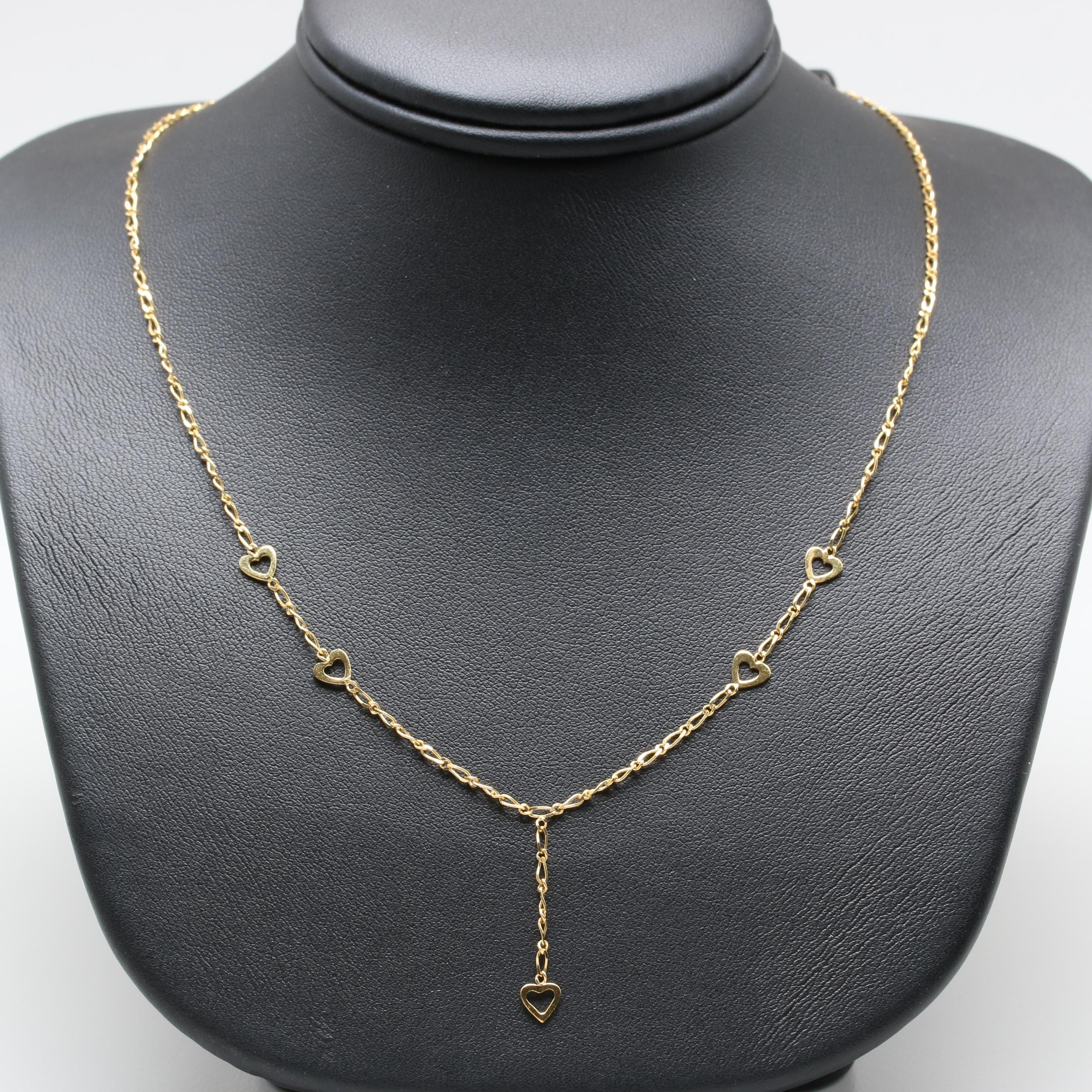 14K Yellow Gold Y Necklace