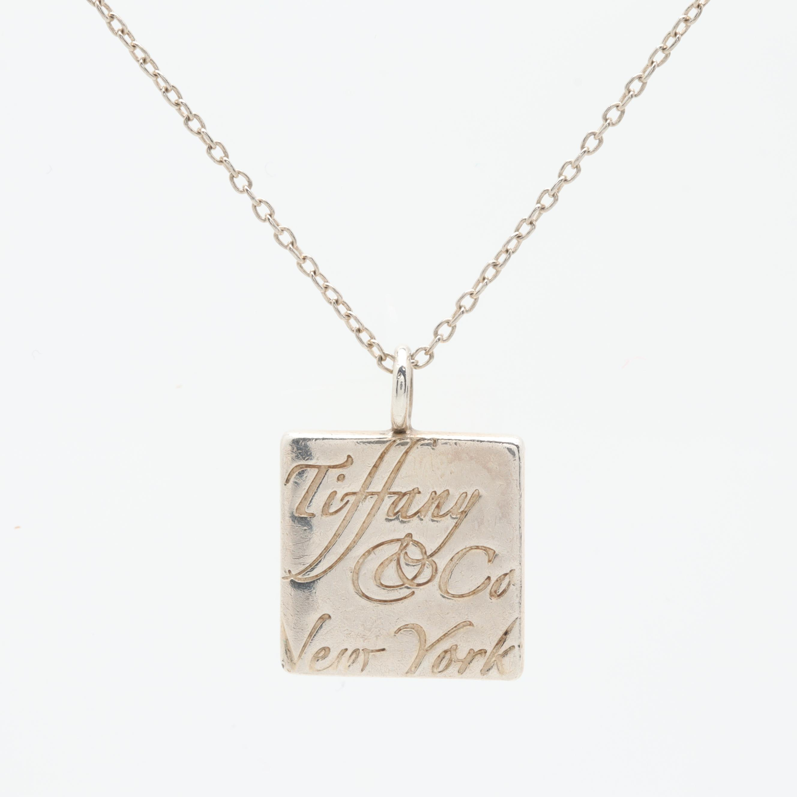 "Tiffany & Co. ""Notes"" Collection Sterling Silver Pendant Necklace"