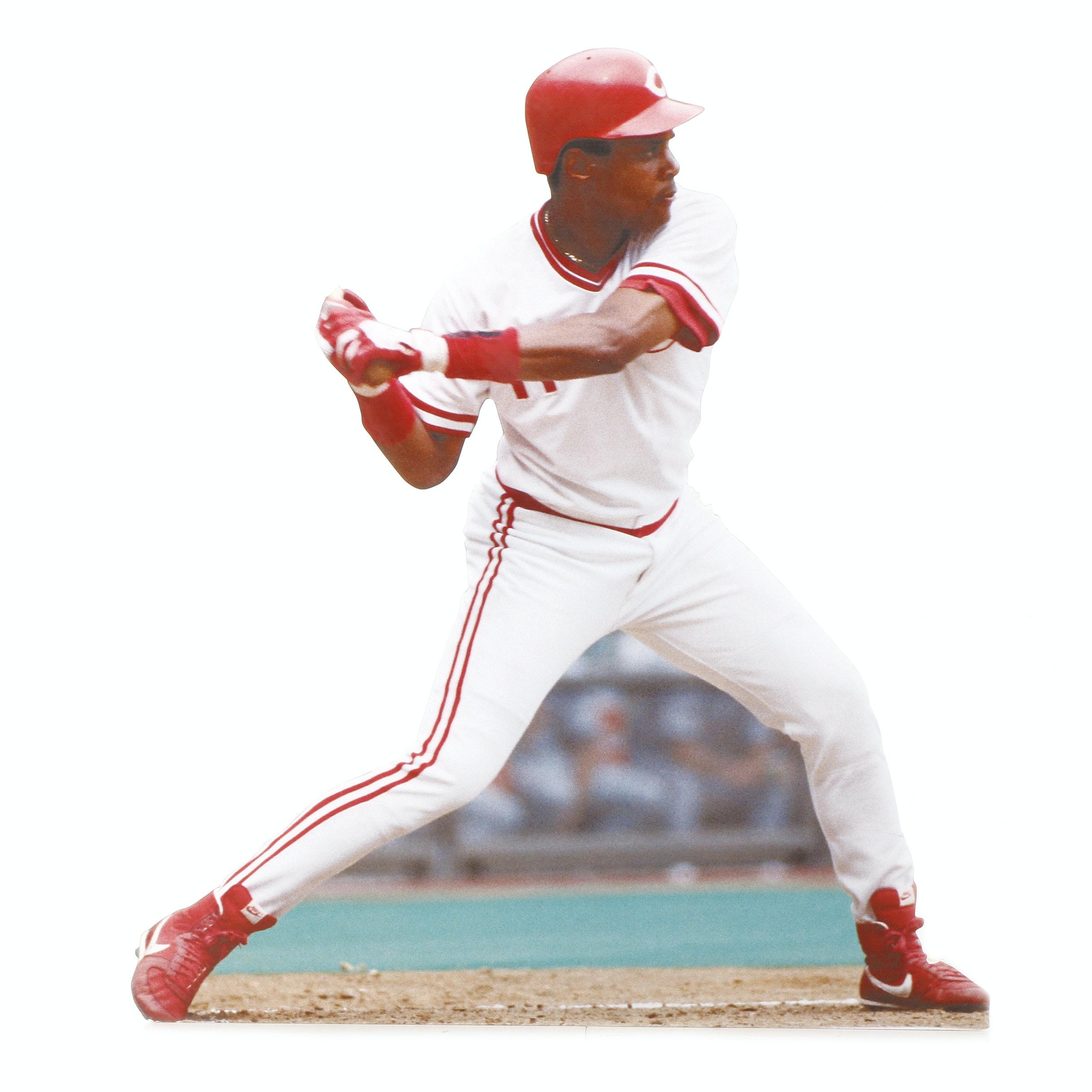 (HOF) Barry Larkin Cincinnati Reds Hall Of Fame Exhibit Display COA