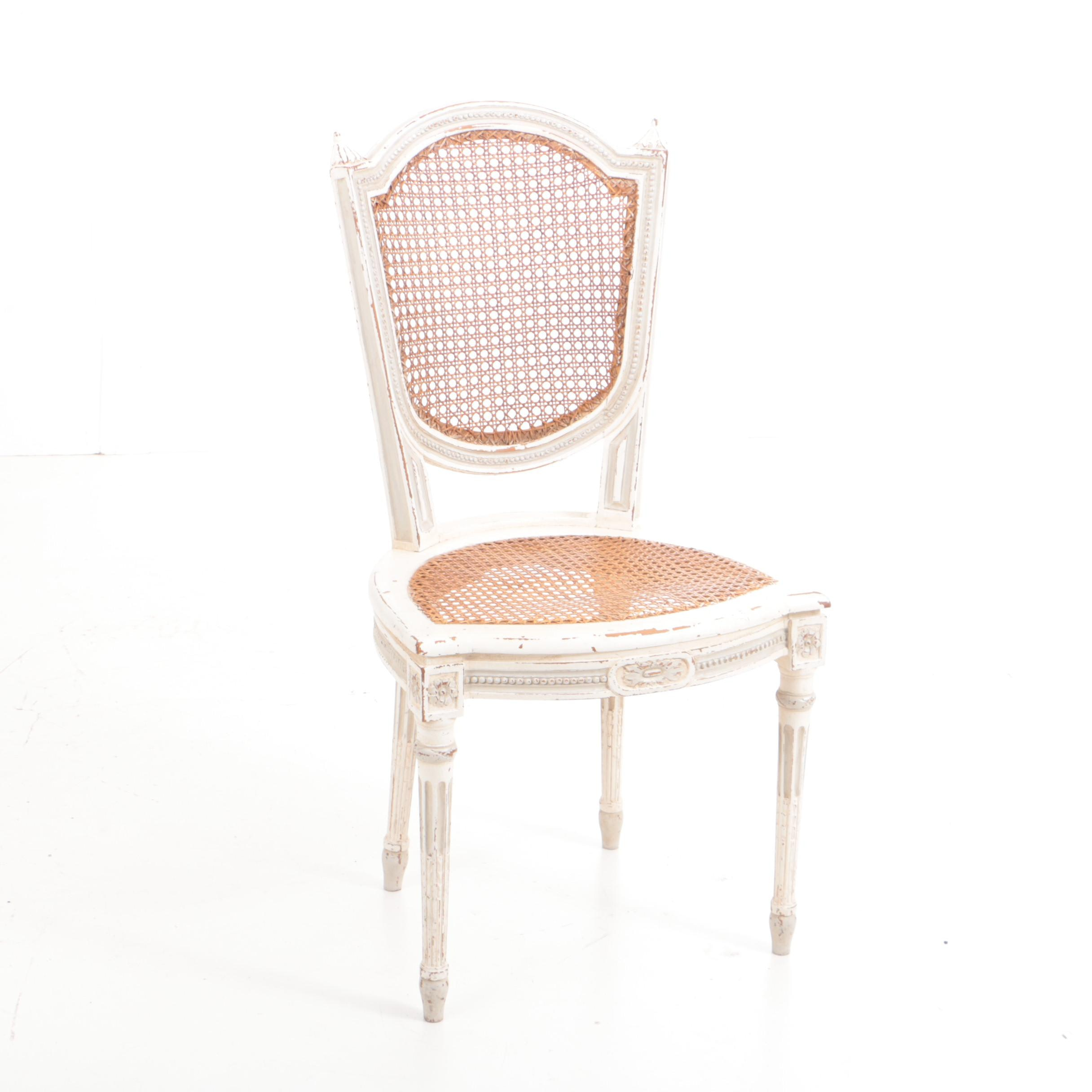 White Painted Louis XVI Style Chair